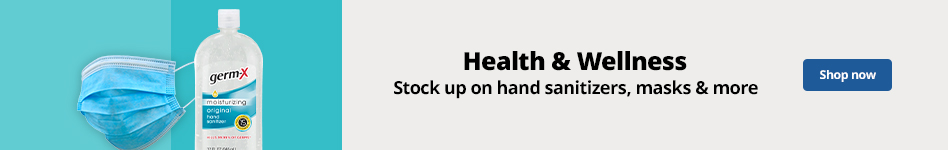 Health & Wellness | Stock up on hand sanitizers, masks & more