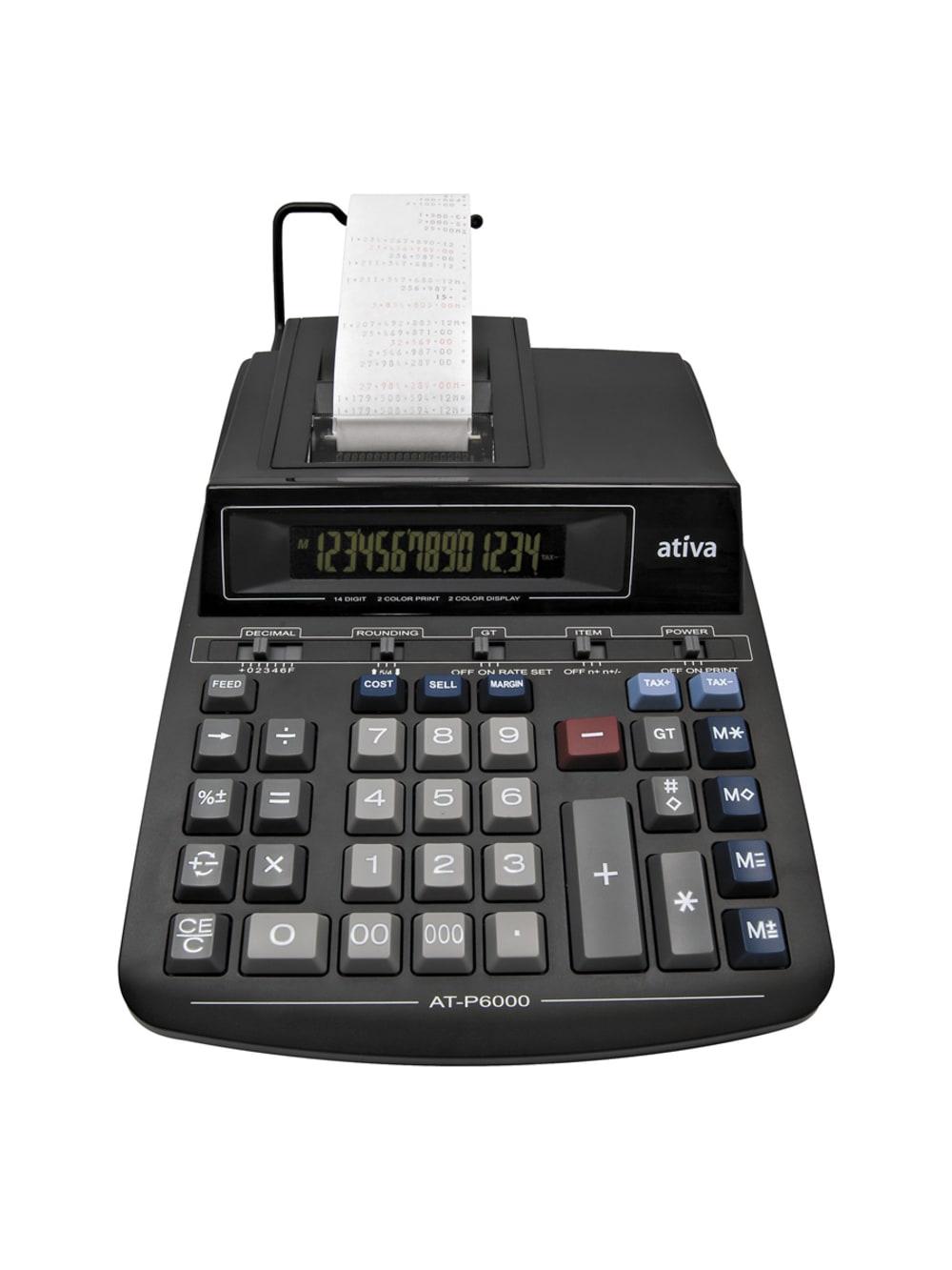 Taschenrechner Ativa AT 709 979074 Tisch Rechner grau Calculator