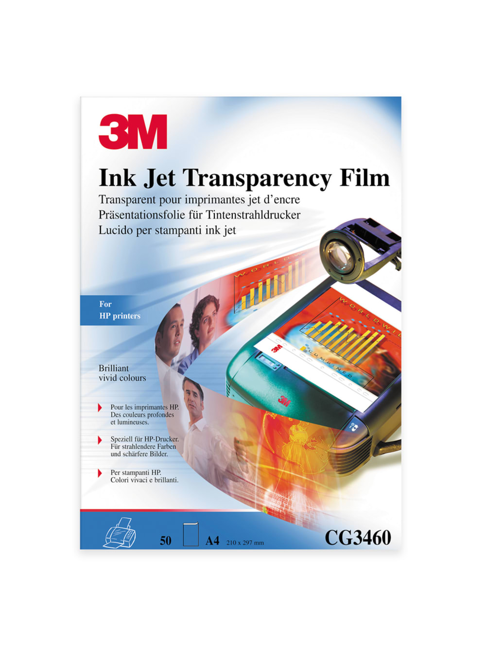 3M Transparency Film Ink Jet Printers CG3460 50 Sheets for sale online