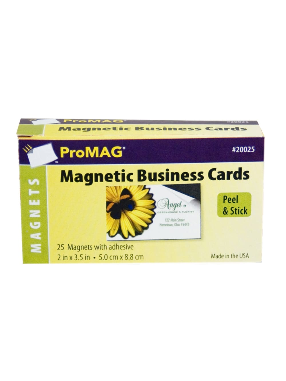 Peel and Stick Self Adhesive Business Card Magnets Value Pack of 100 Great Promotional Product
