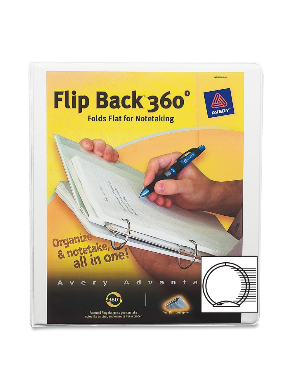 """8 1//2/"""" x 2/"""" Binder Capacity Letter Avery; Economy Binders with Round Rings"""
