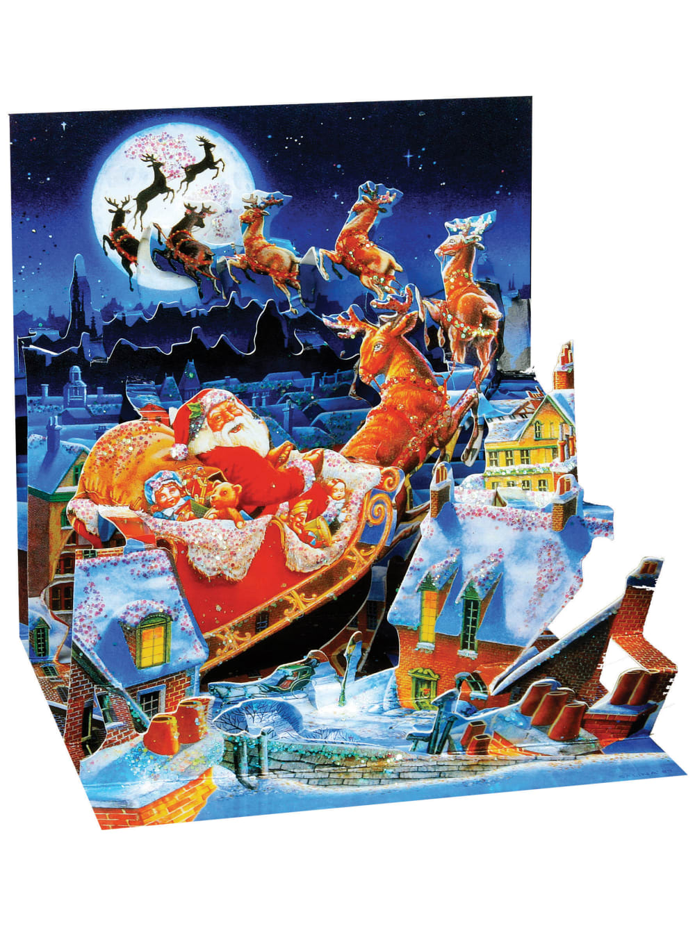 Pack of 5 Sleigh Ride Cards 4x5.5