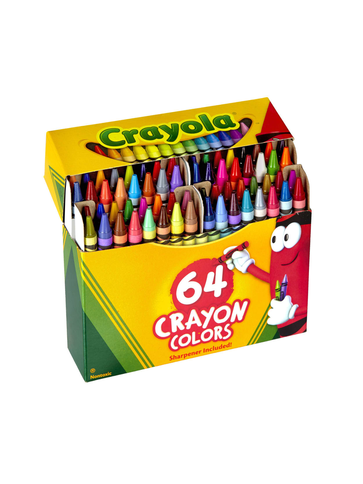 Crayola Standard Crayons With Built In Sharpener Assorted Colors Box Of 64 Crayons Office Depot