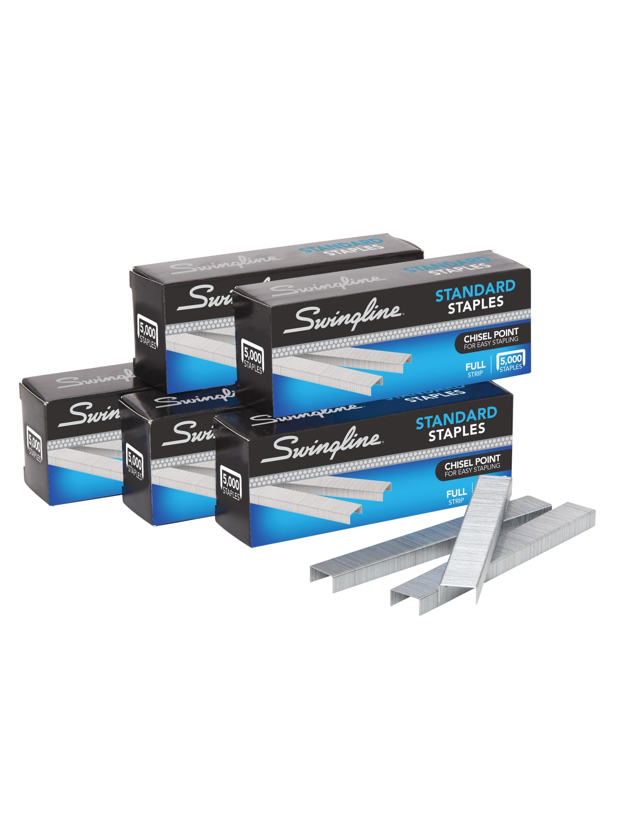 """Swingline Standard Staples 1//4/"""" 5000 per box For Use with Standard Staplers"""