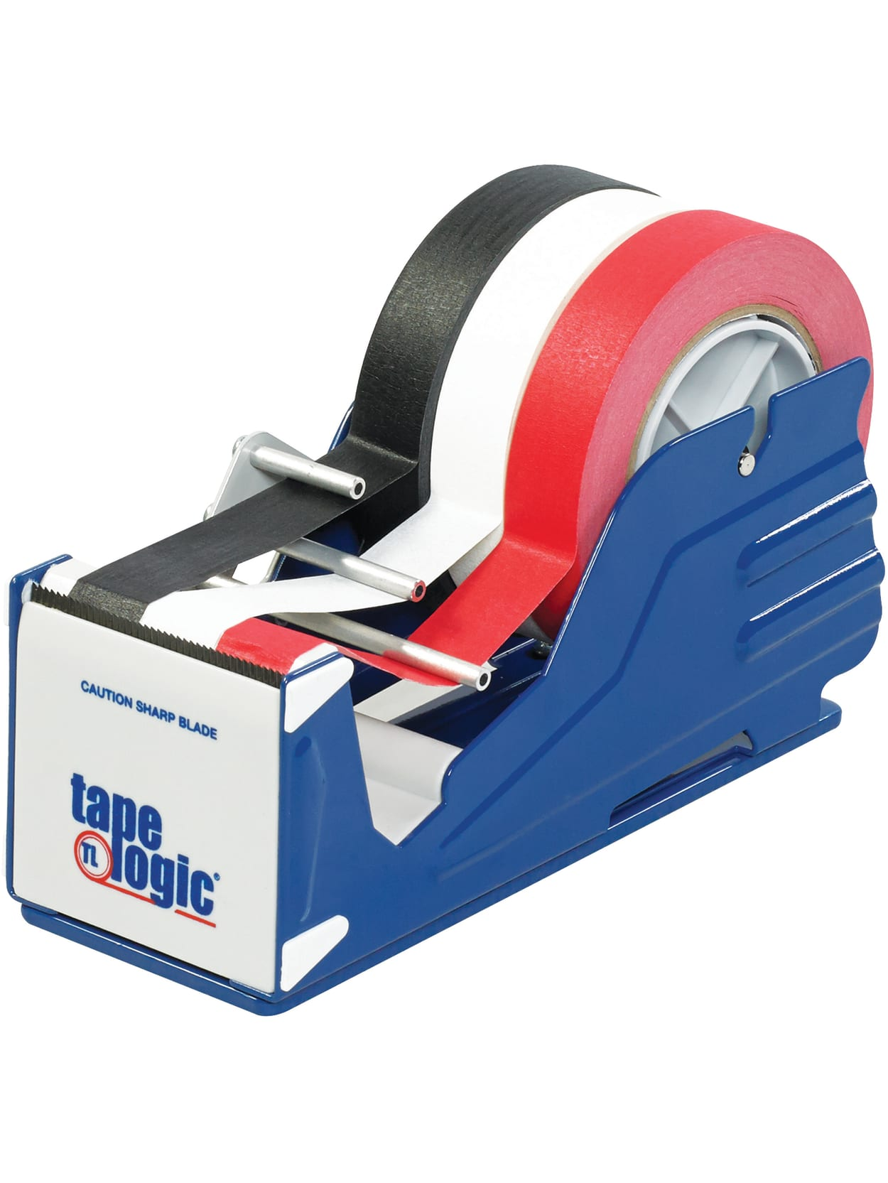 Blue//White//Black Tape Logic TLTDCG3 Comfort Grip Carton Sealing Tape Dispenser 3