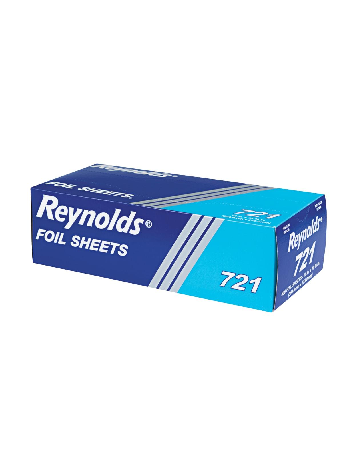 12 x 10 3//4 Silver 500//Box 6 Boxes//Carton Reynolds Wrap 721 Interfolded Aluminum Foil Sheets