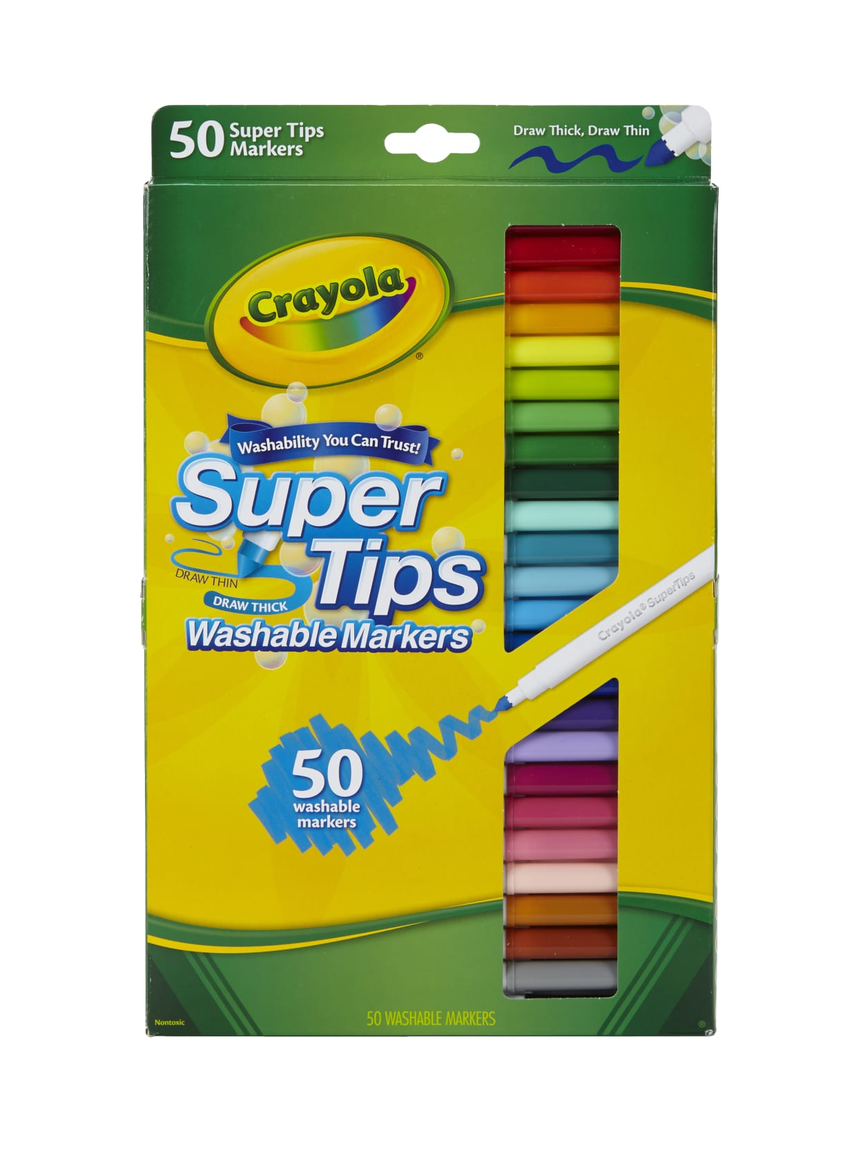 Conical Tip Markers 20 Count Crayola Thick and Thin Markers