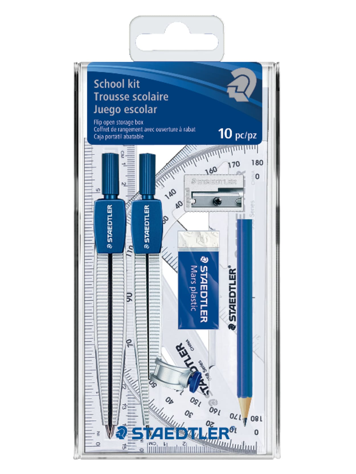 10 Piece Math Set with Carrying Case