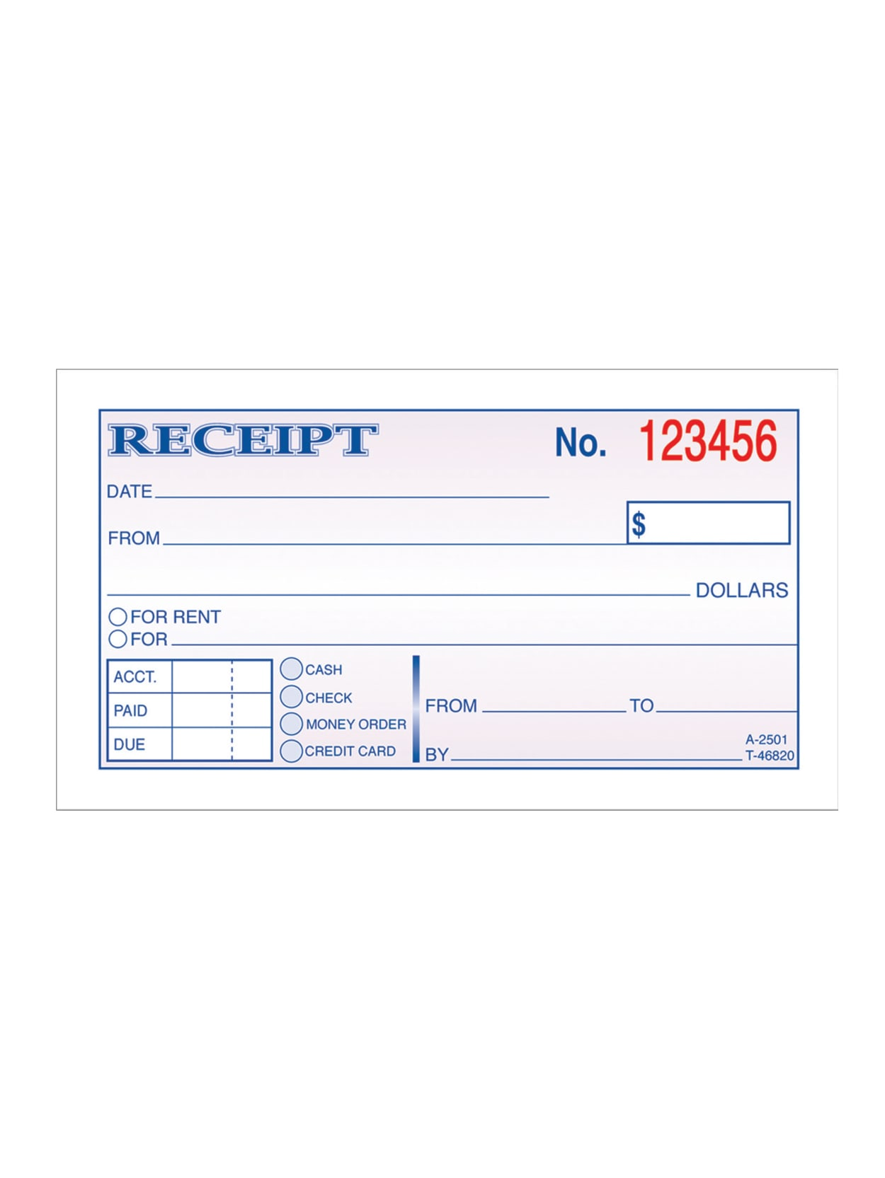 4 Receipts per Page Bound Wraparound Cover 100 Sets per Book 7-5//8 x 10-7//8 TC1182-5 Money and Rent Receipt Books 5 Books per Pack #.01Pack 3-Part Carbonless