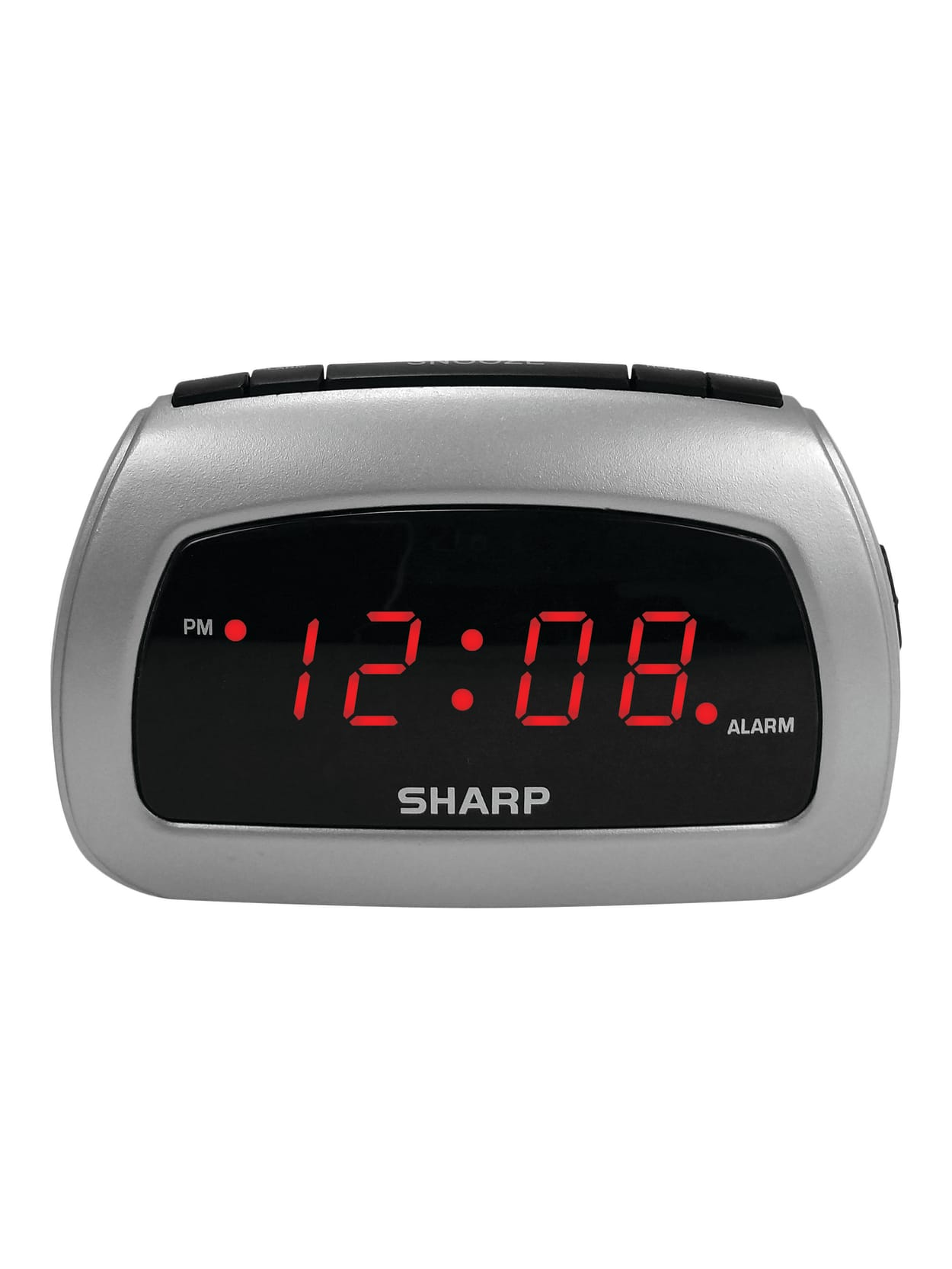 Sharp Battery Backup Electric Powered Digital Alarm Clock 2 34 X 4 14 X 2 Blacksilver Office Depot