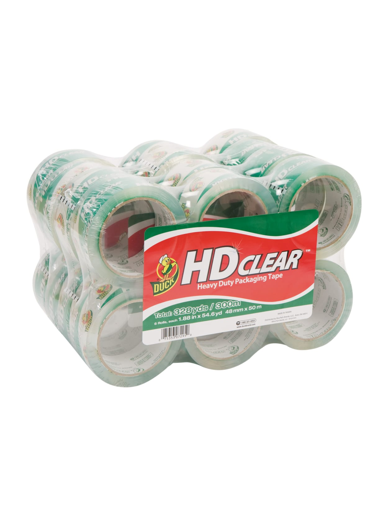 6 Rolls Heavy Duty Shipping Packaging Clear UV Resistant Storage Packing Tape