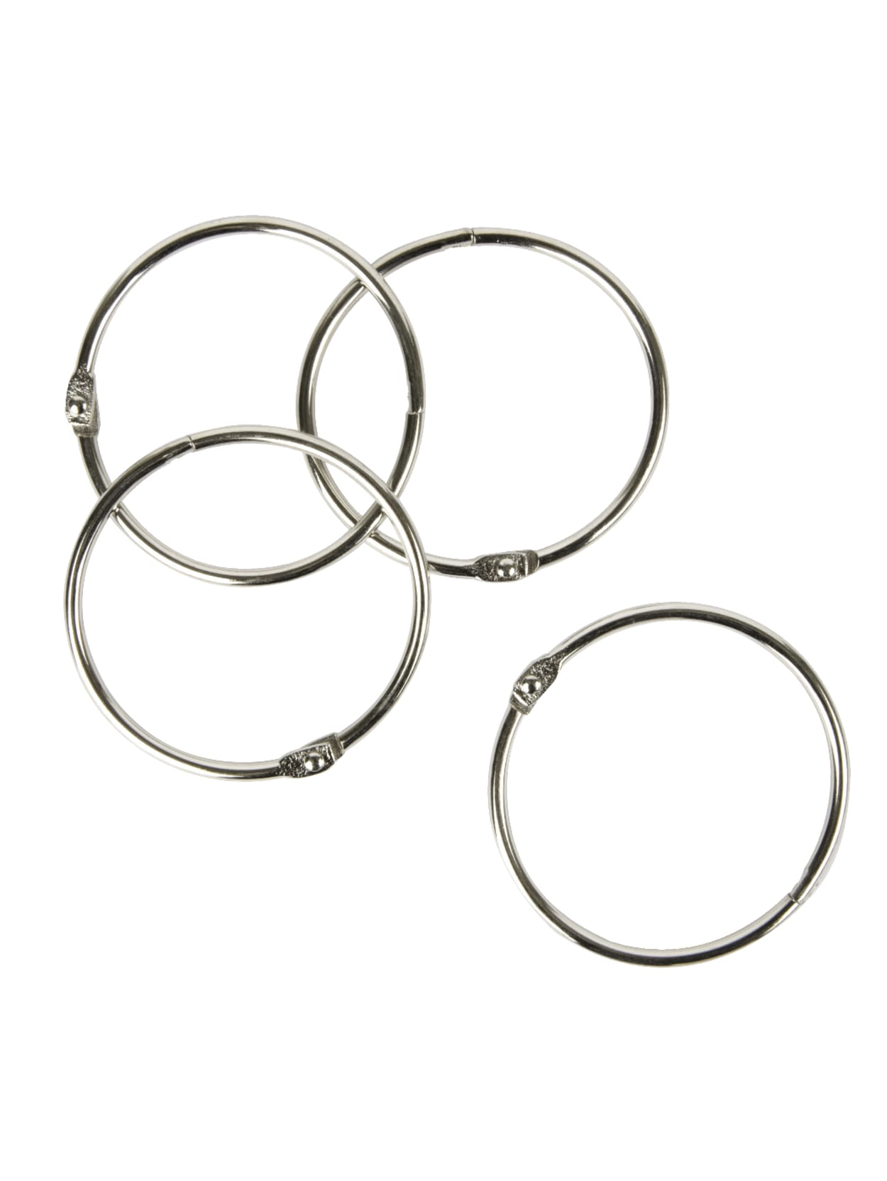 O Rings for Flashcards Loose Silver Loose Leaf Binder Rings for Paper by MoHern 22 Pcs Book Rings Metal Rings for Index Cards Binder Rings 2 Inch