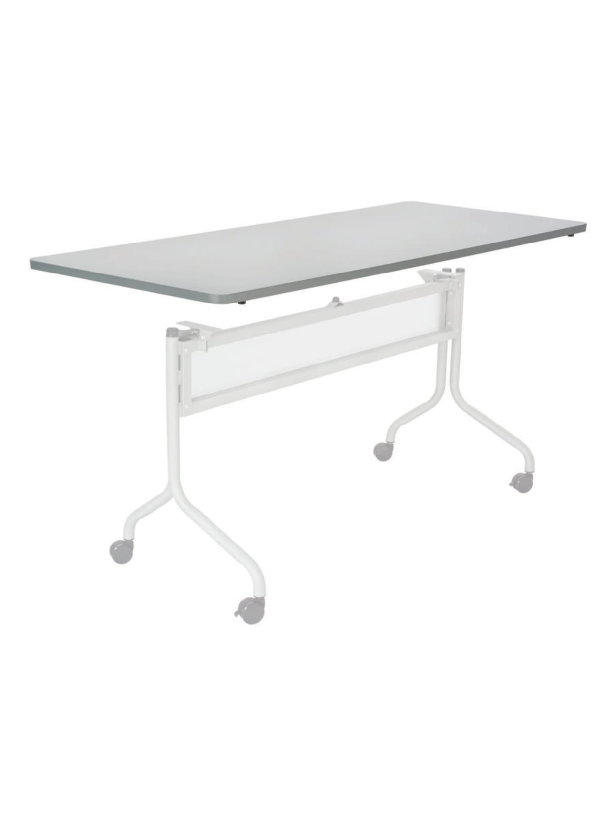 Safco Products Impromptu Rectangle Mobile Training Table 71D x 24W Gray Top//Silver Base