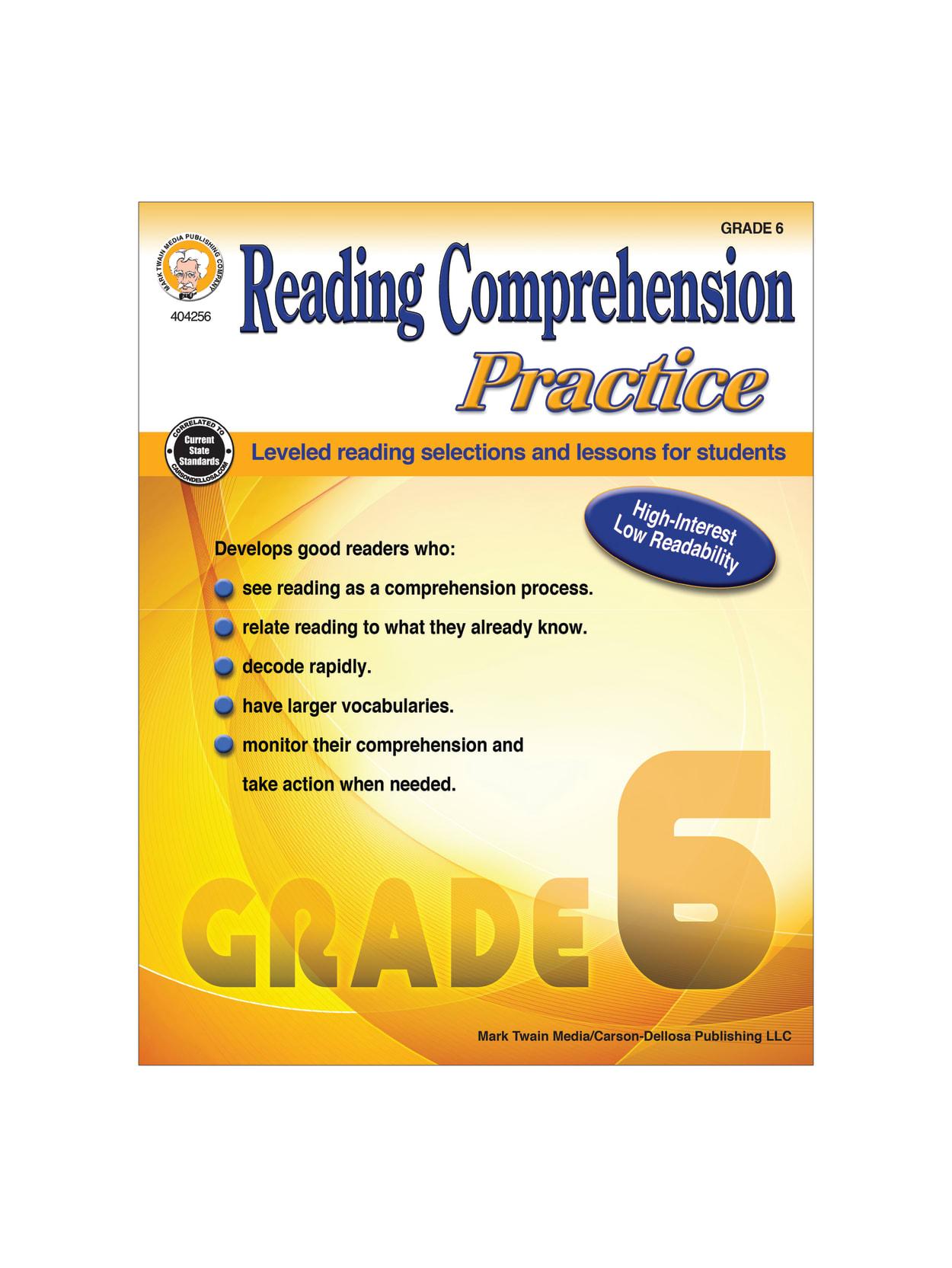 - Mark Twain Media Reading Comprehension Practice Grade 6 - Office Depot