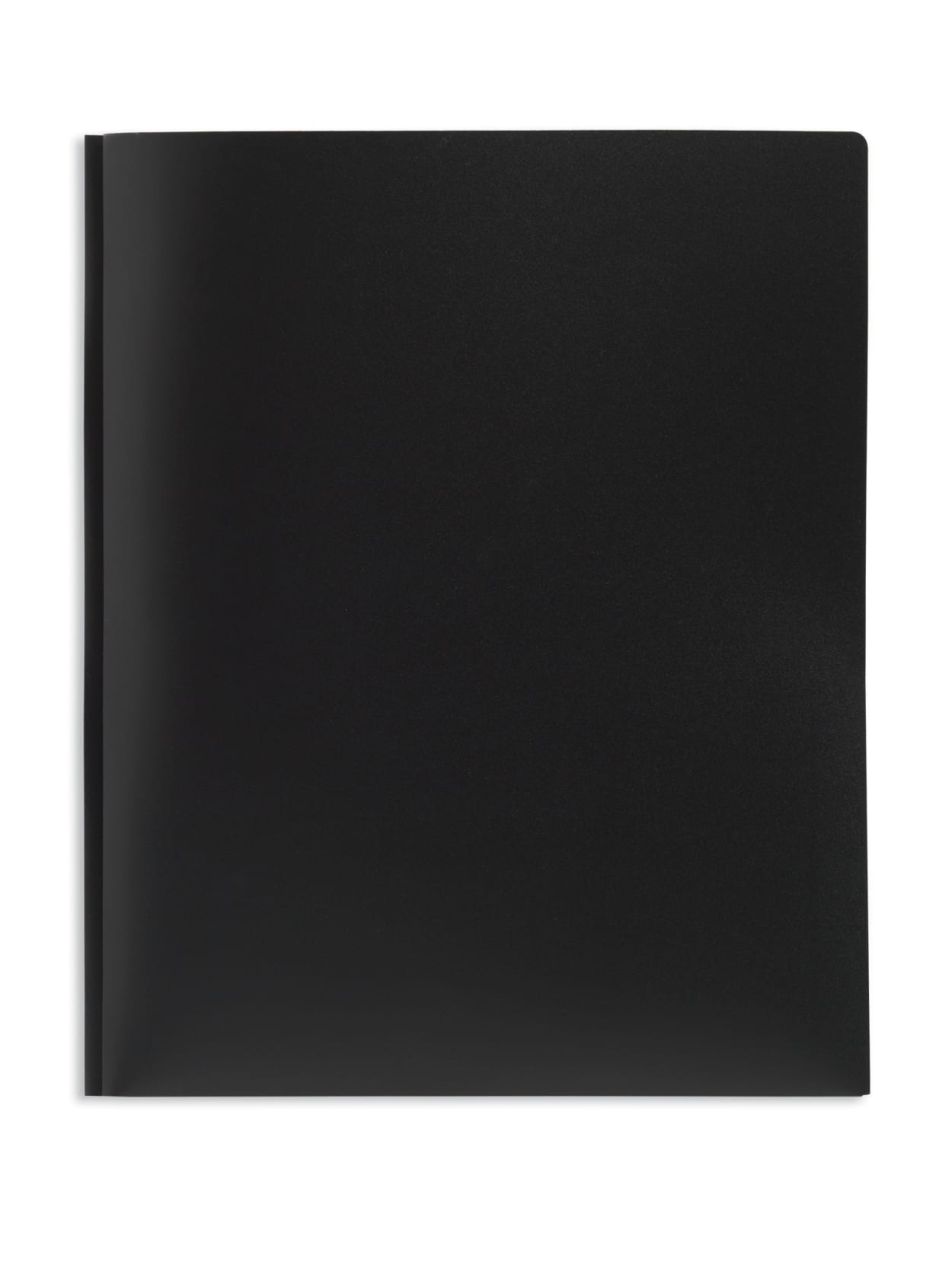 Lot of 6 Office Depot 2-Pocket Poly Portfolio Folder With Fasteners Black