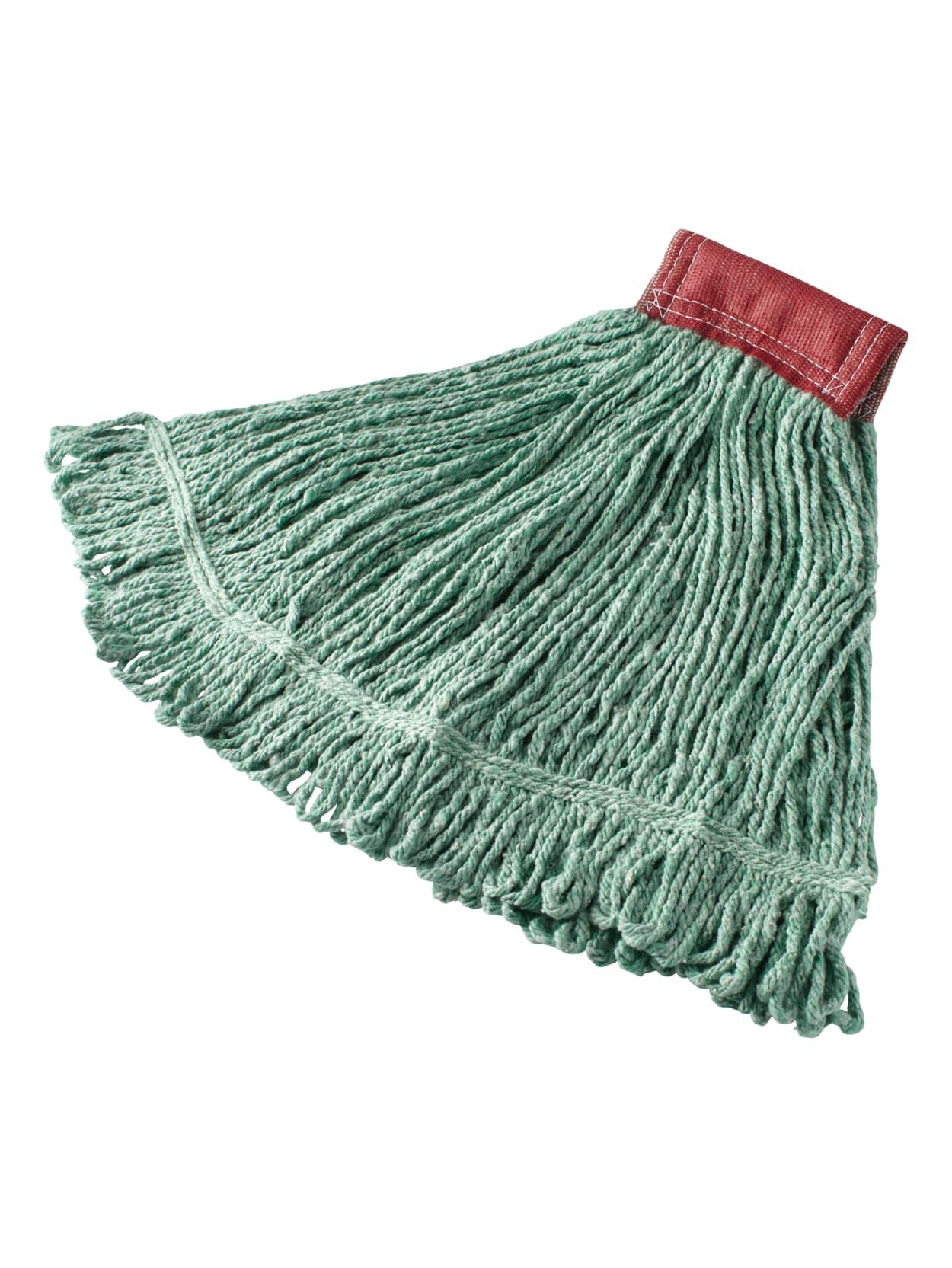 Rubbermaid Wet Mop Head Super Stitch Cotton Blend Green Case Of 6 Office Depot