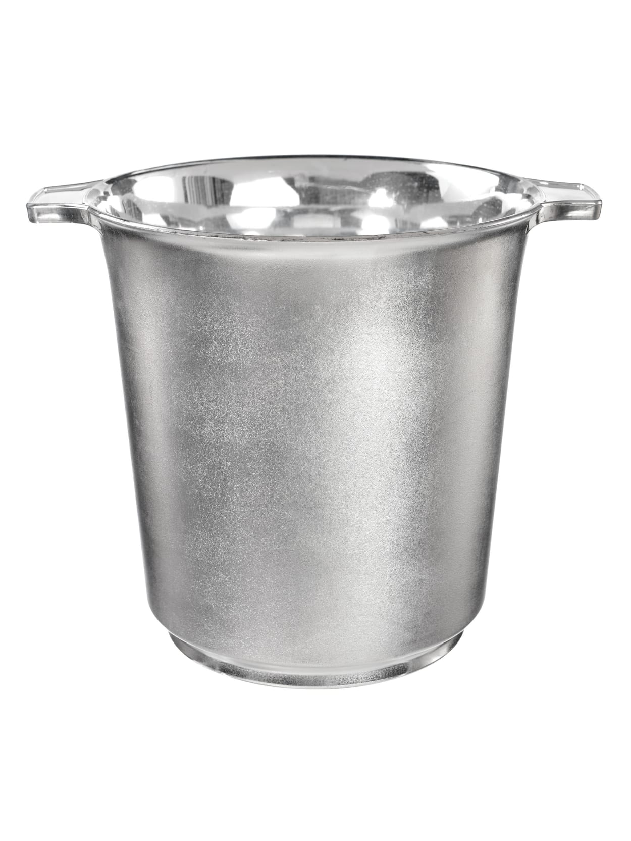 Amscan Plastic Ice Buckets Silver 2pk Office Depot