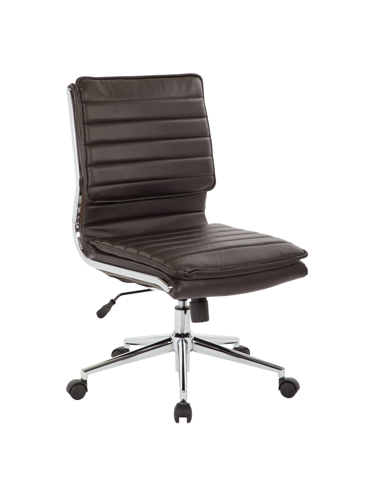 Office Star Pro Line Ii Spx Armless Bonded Leather Mid Back Chair Espressochrome Office Depot