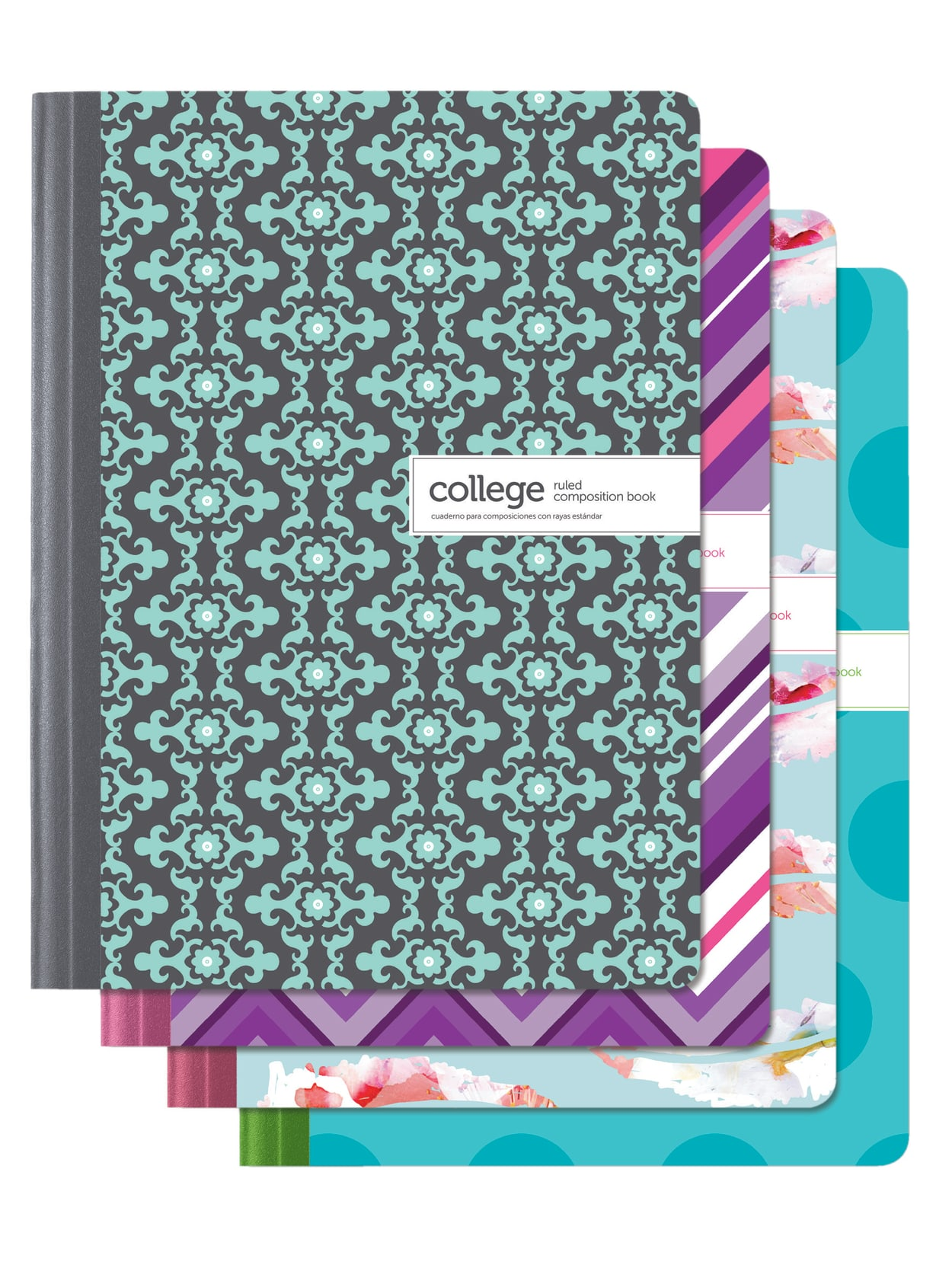 Office Depot Brand Fashion Composition Notebook 7 12 X 9 34 1 Subject College Ruled 80 Sheets Assorted Designs No Design Choice Office Depot