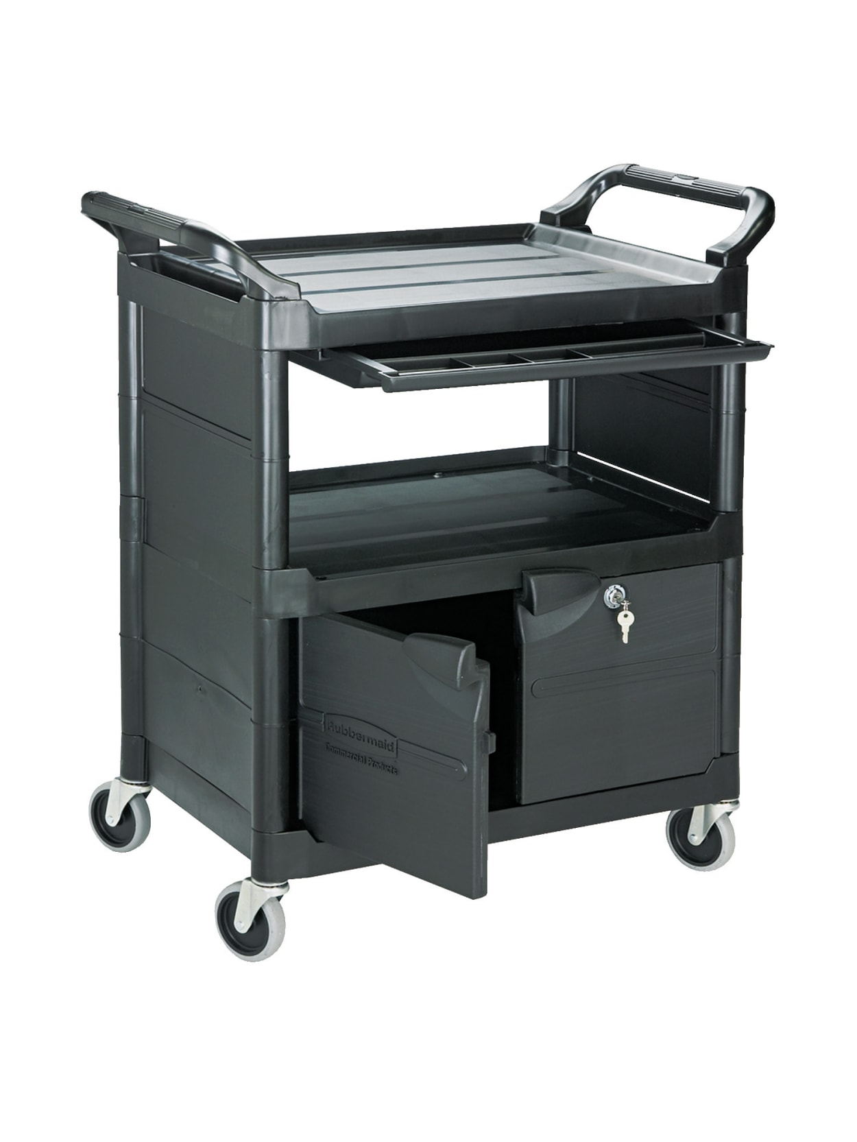 Rubbermaid 2 Shelf Utility Cart 37 34 H X 33 58 W X 18 58 D Black Office Depot