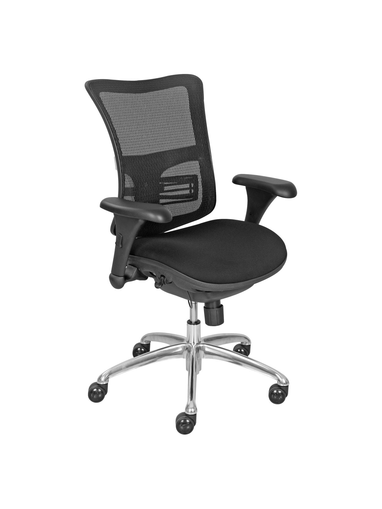 La Z Boy Mid Back Task Chair 41 H X 28 W X 20 1416 D Black Office Depot