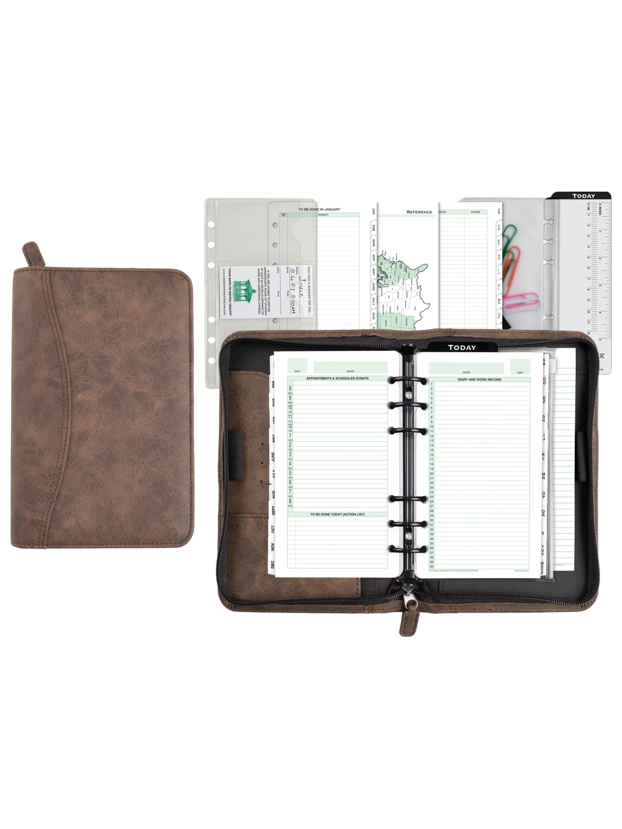 It is a graphic of Stylish Planners and Organizers intended for book