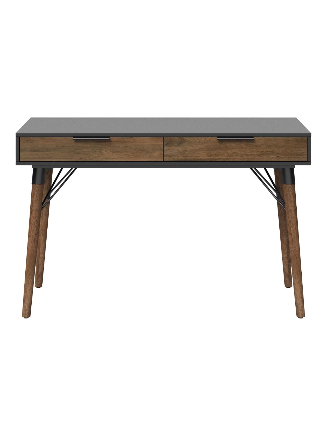 Elle D cor Dani 31 W Writing Desk Old World Rustic PineDusk Gray