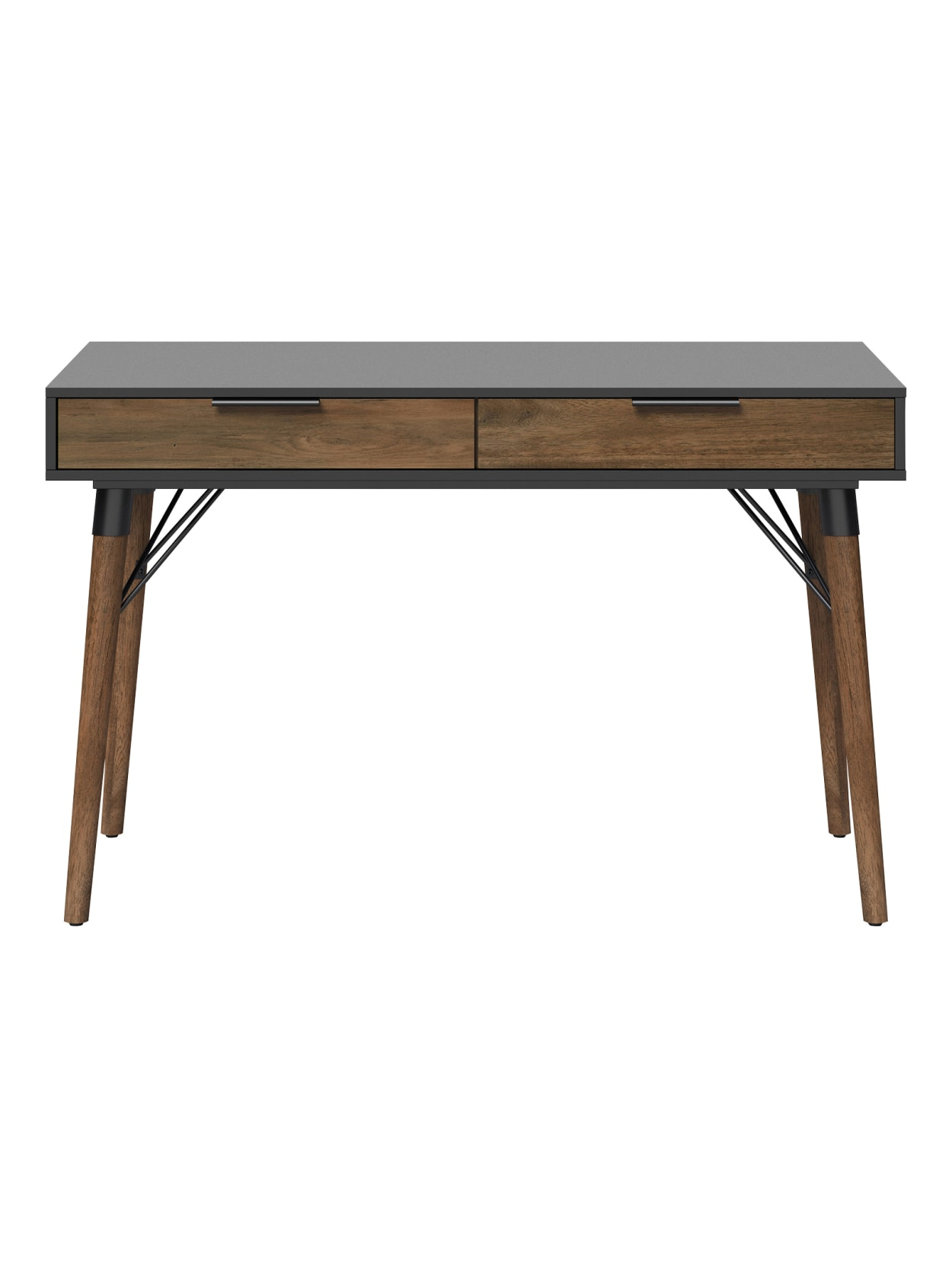 Image of: Elle D Cor Dani 47 W Writing Desk Old World Rustic Pinedusk Gray Office Depot