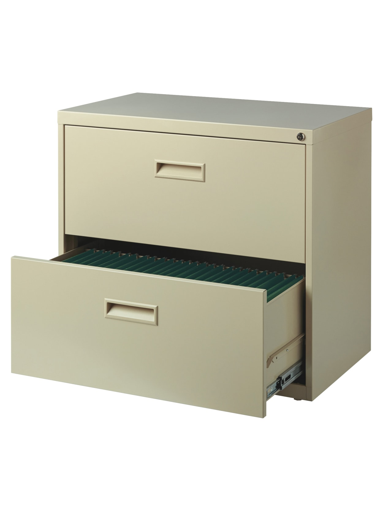 Realspace SOHO 40 W Lateral 40 Drawer File Cabinet Metal Putty