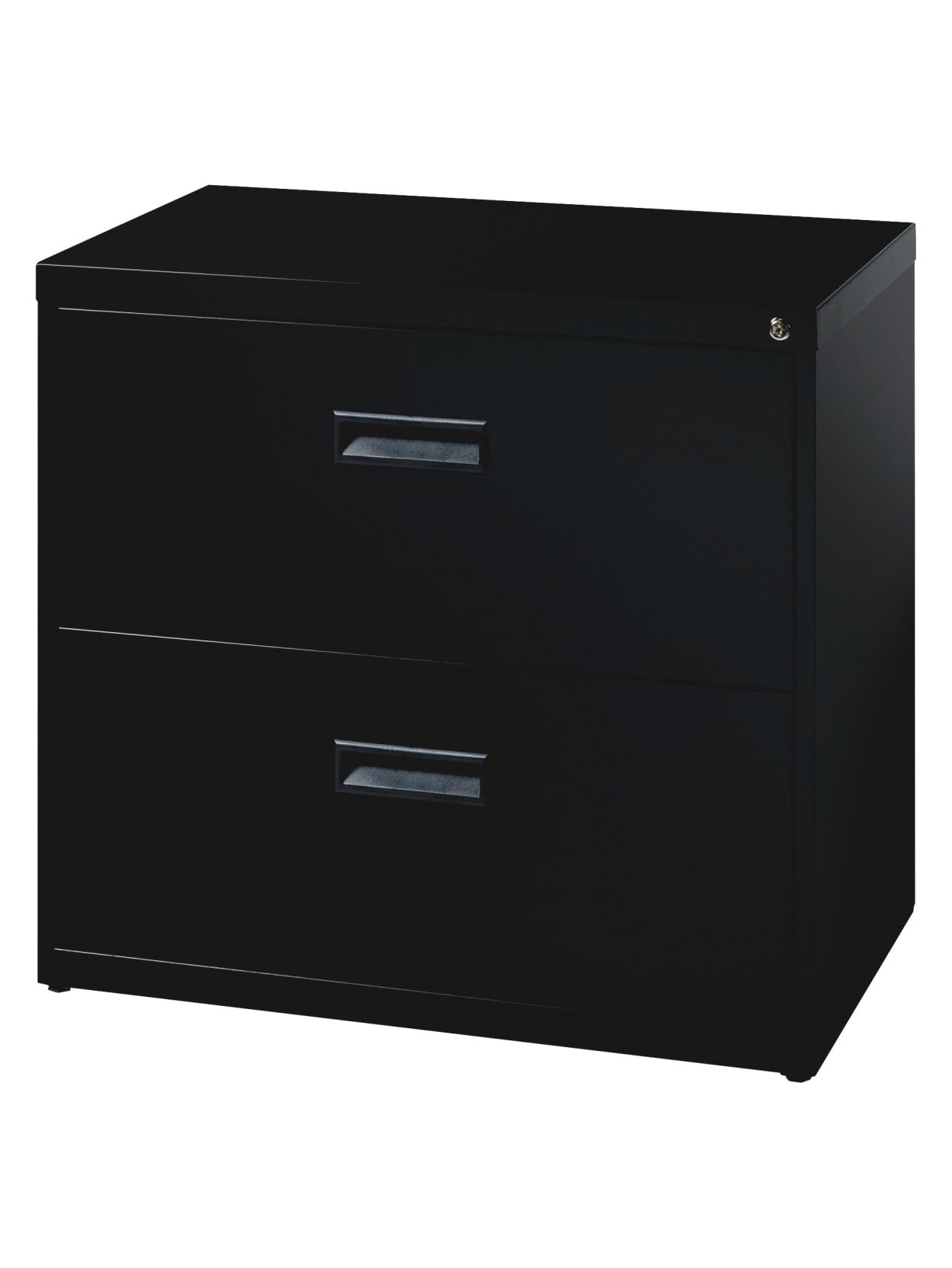 Picture of: Realspace Soho 2 Drawer Cabinet Black Office Depot
