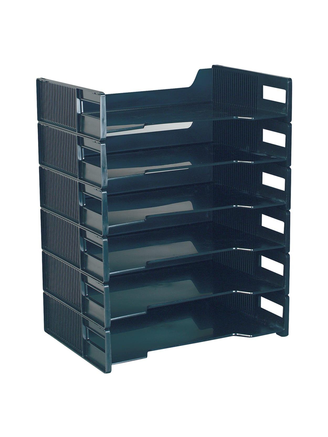 Innovative Storage Designs Stackable Letter Trays, Black, Pack Of 48 Item #  348481548