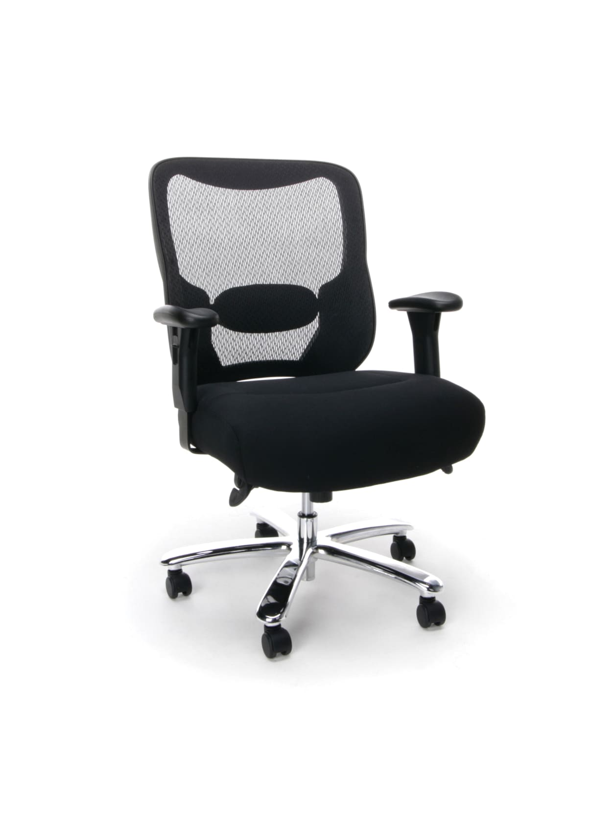 Ofm Essentials Big And Tall Mesh Mid Back Chair Black Office Depot