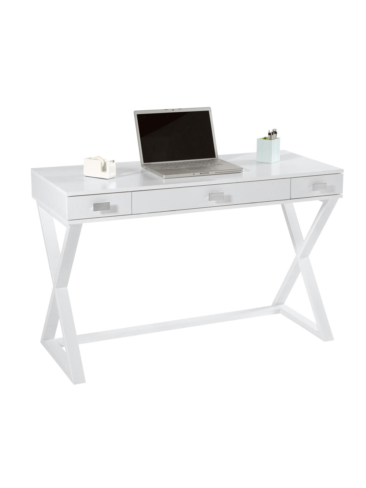 See Jane Work Kate 47 W Writing Desk White Office Depot