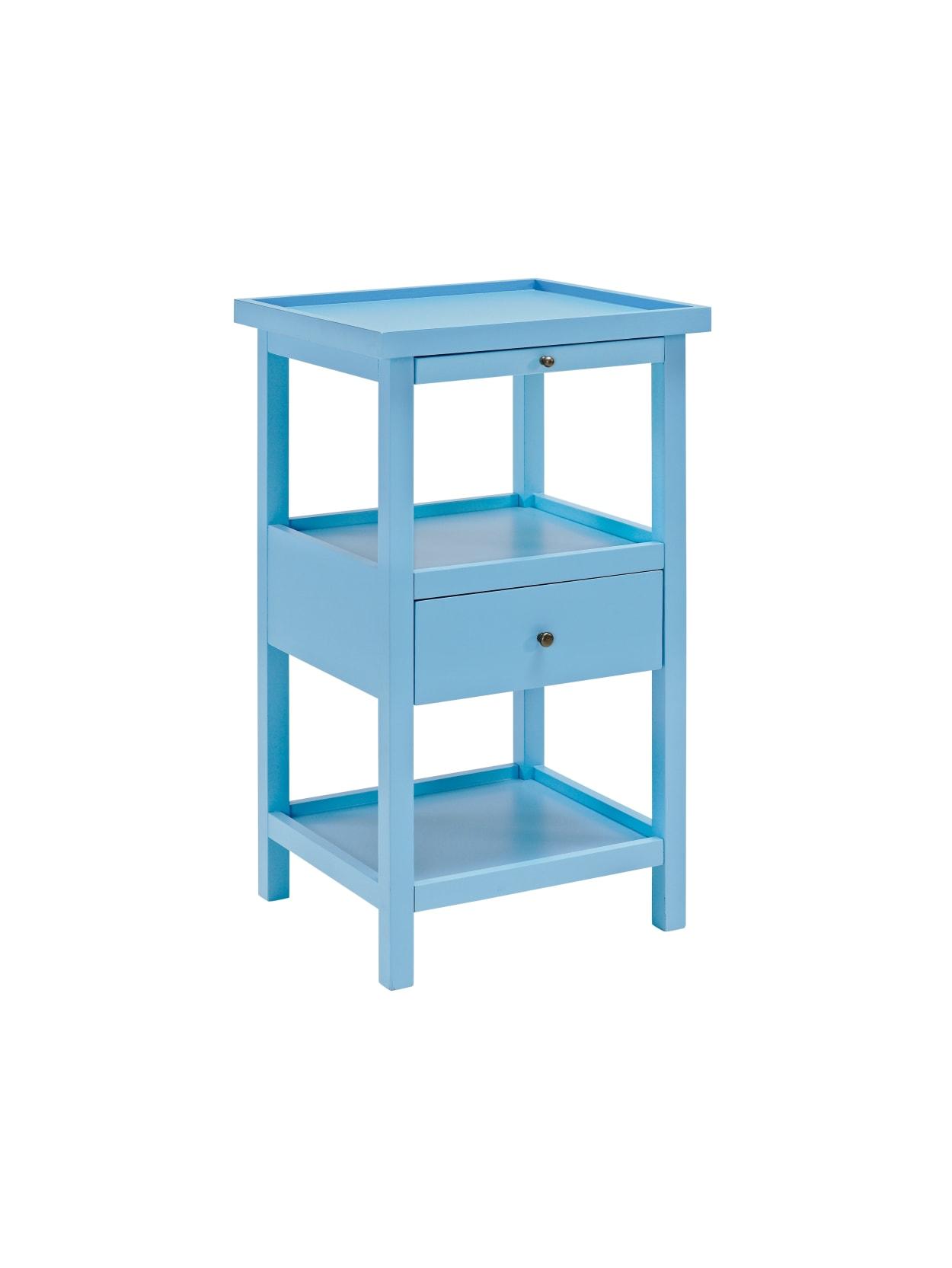 Blue Shelf End Table