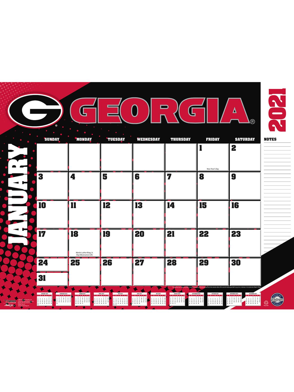 Georgia Bulldogs by Turner Licensing Georgia Bulldogs Wall Calendar