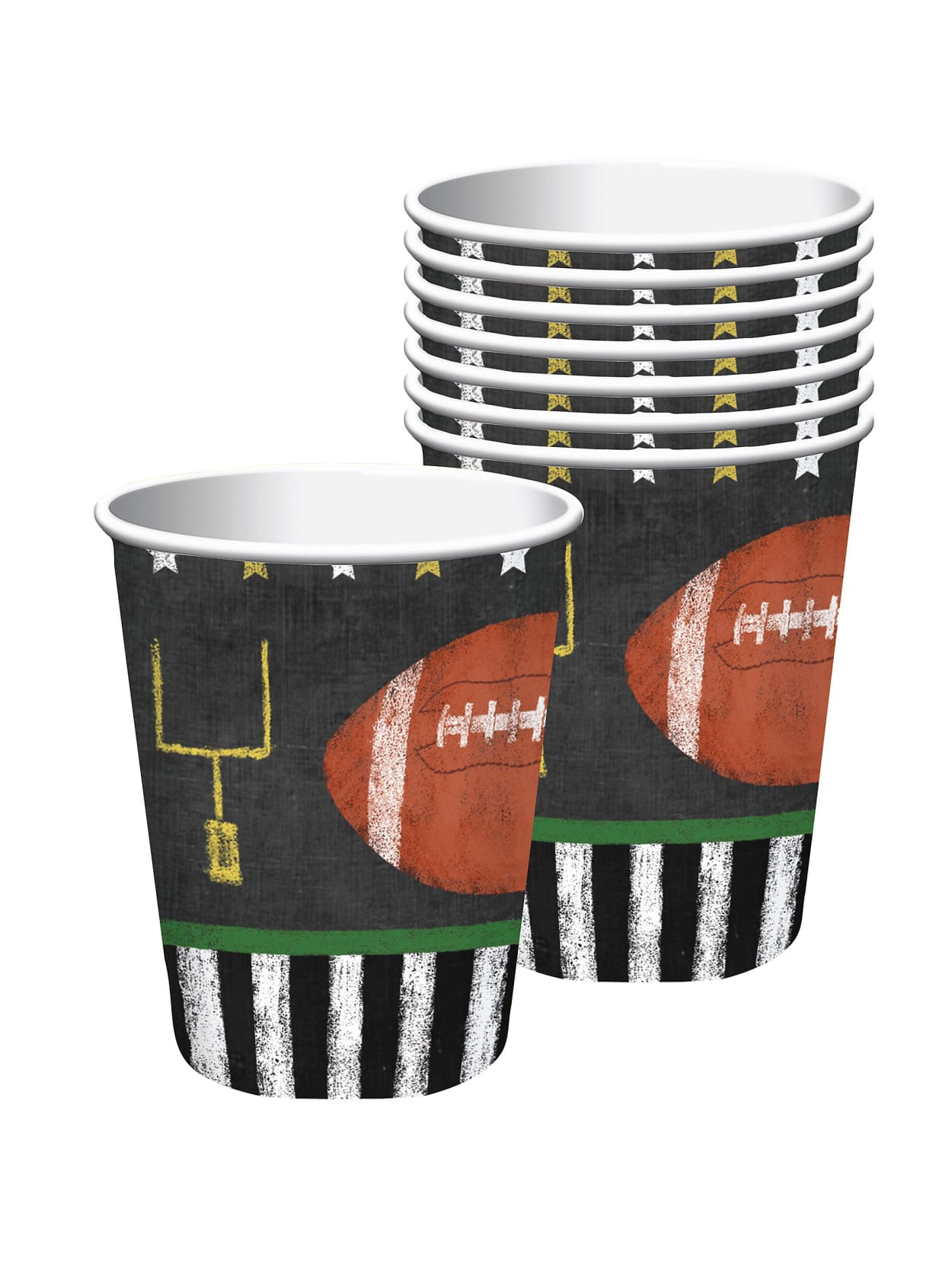 Amscan Football Game Time Paper Cups 72c Office Depot