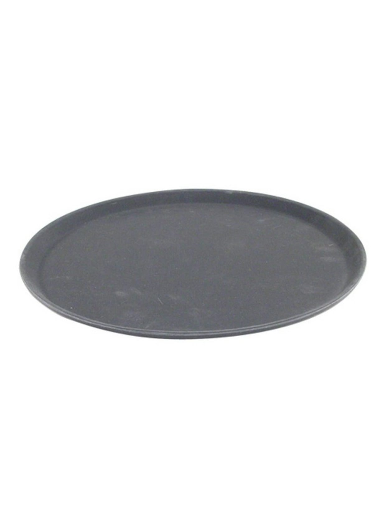 Carlisle Griptite 2 Round Serving Tray 14 Black Office Depot