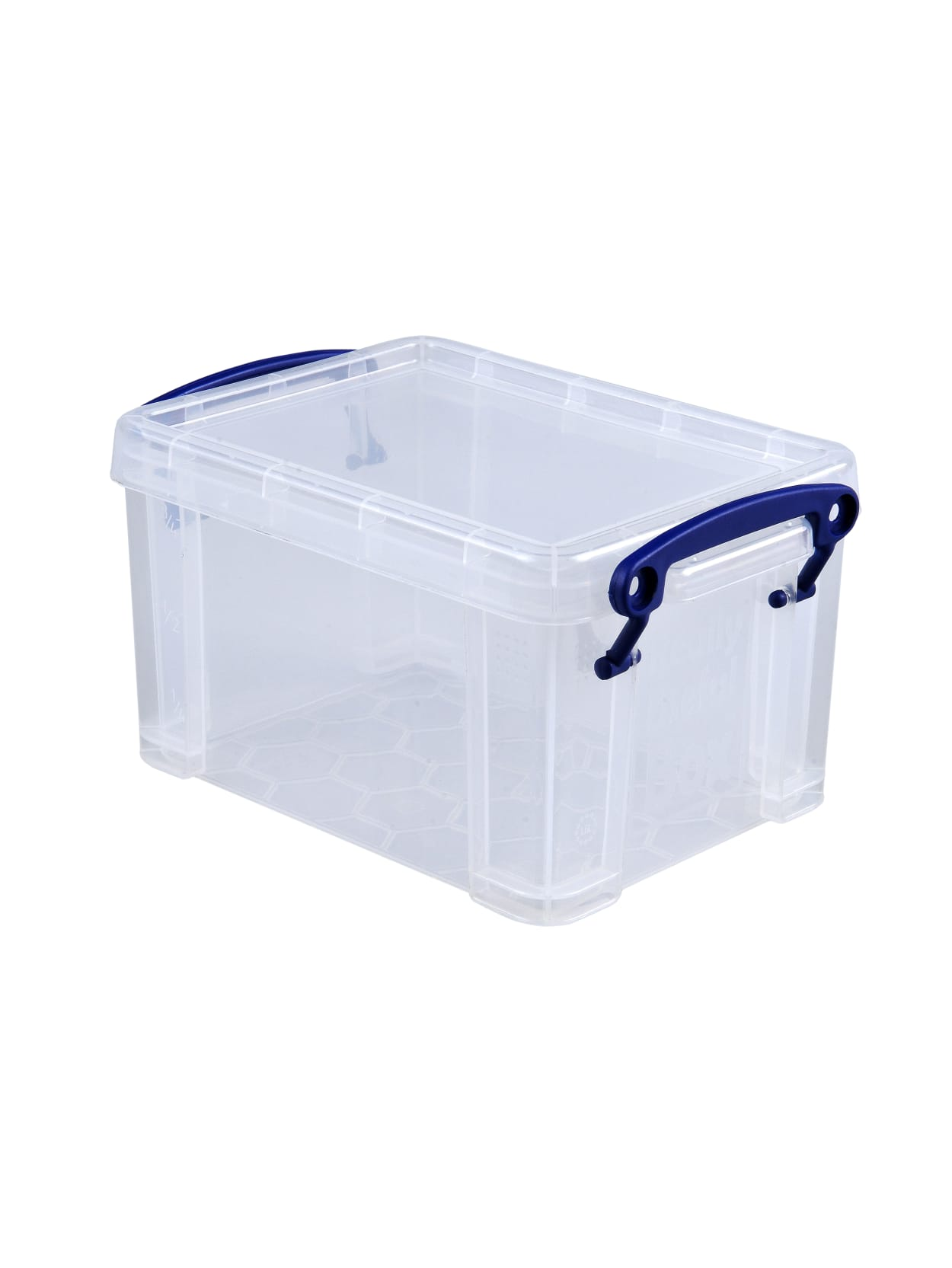 Really Useful Box Plastic Storage Container With Built In Handles And Snap Lid 1 6 Liters 7 12 X 5 14 X 4 14 Clear Office Depot
