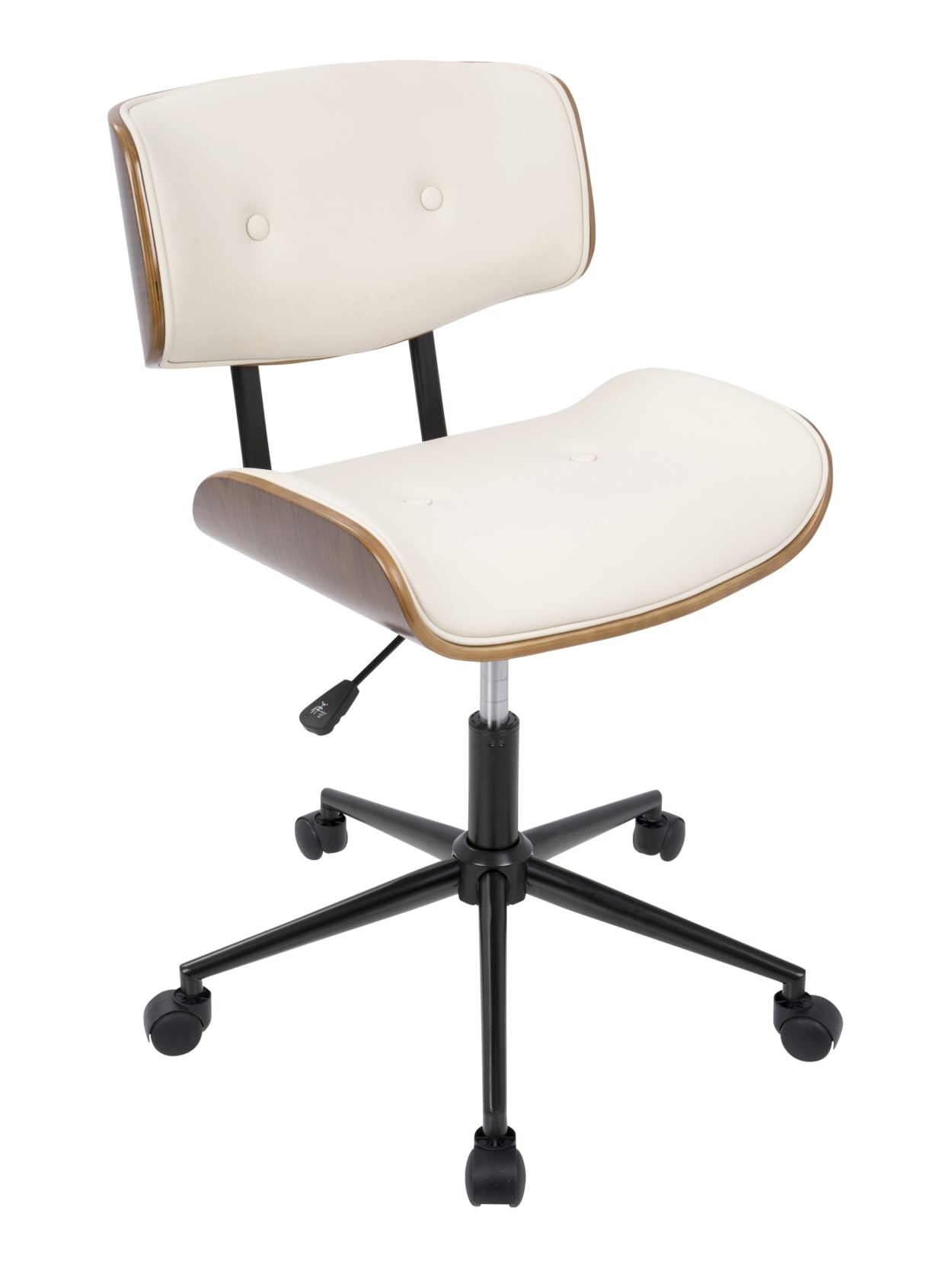 Lumisource Lombardi Office Chair Walnutcream Office Depot