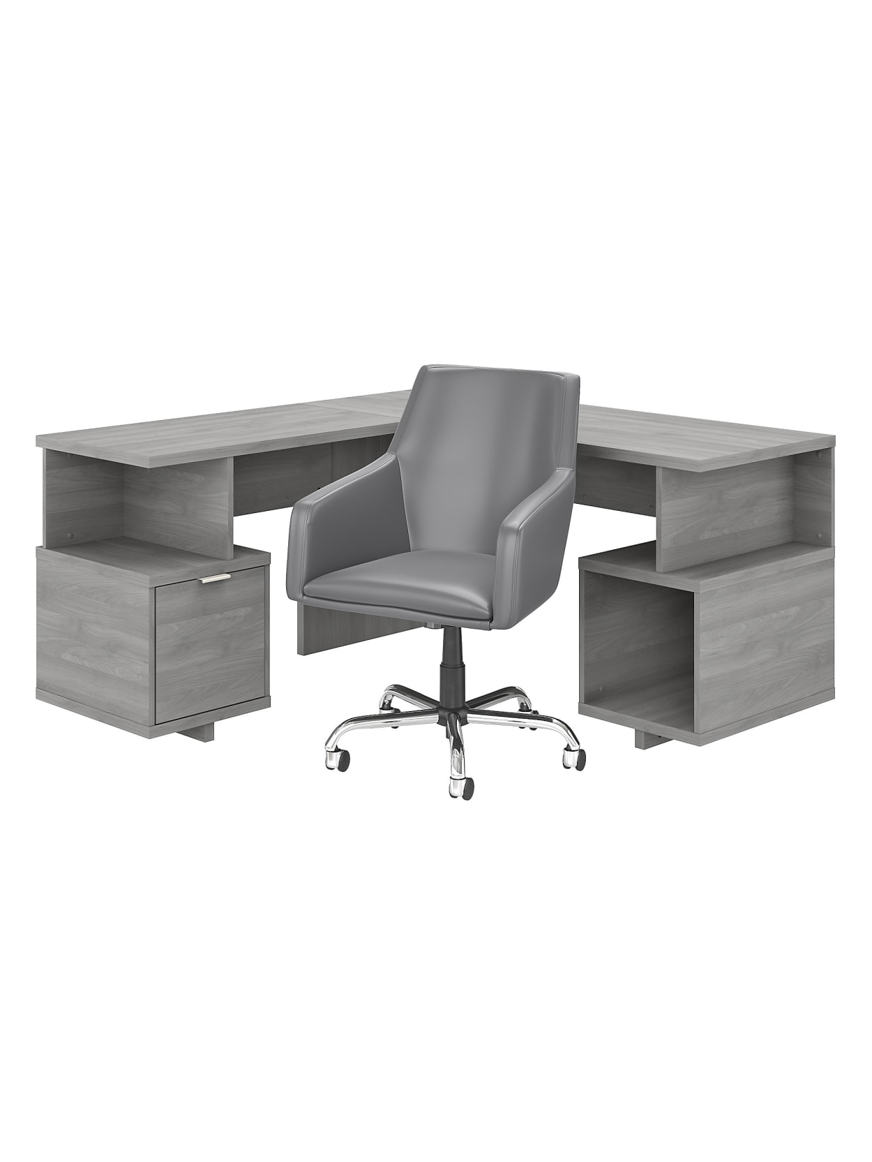 Bush Madison Ave 60 L Deskchair Gray Office Depot