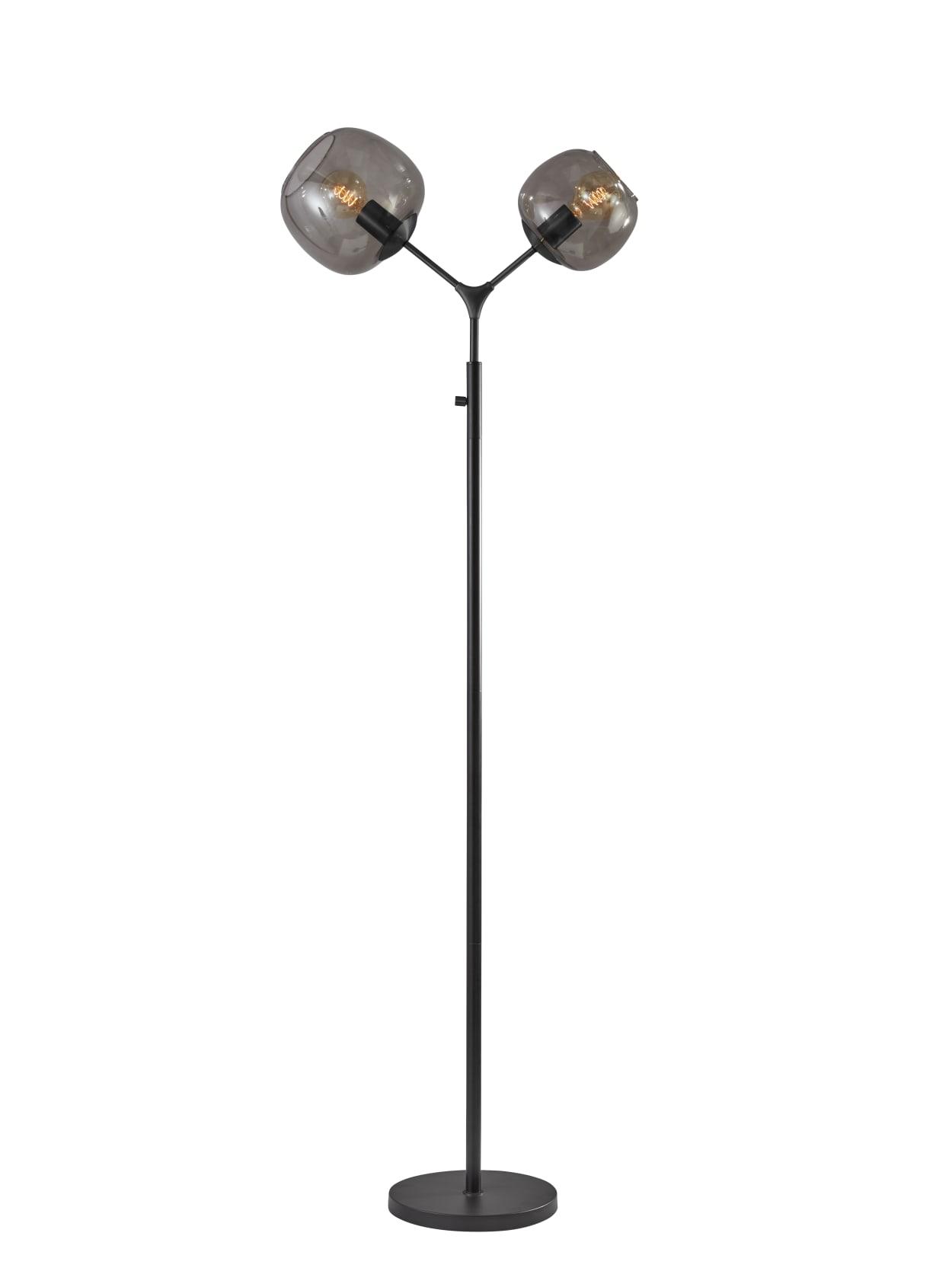 Adesso Ashton Tall Floor Lamp Matte Black Office Depot