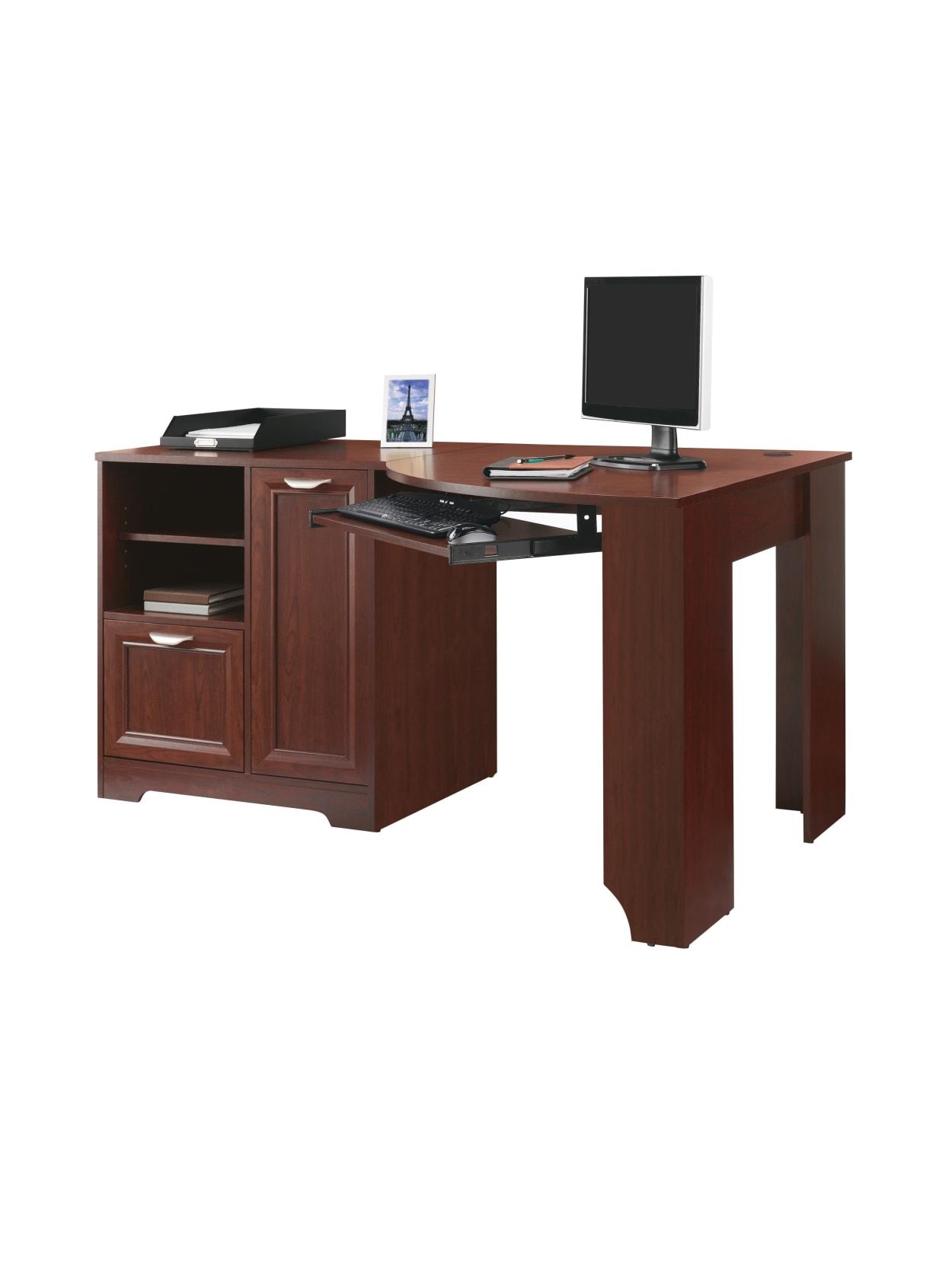Realspace Magellan Corner Desk Cherry - Office Depot