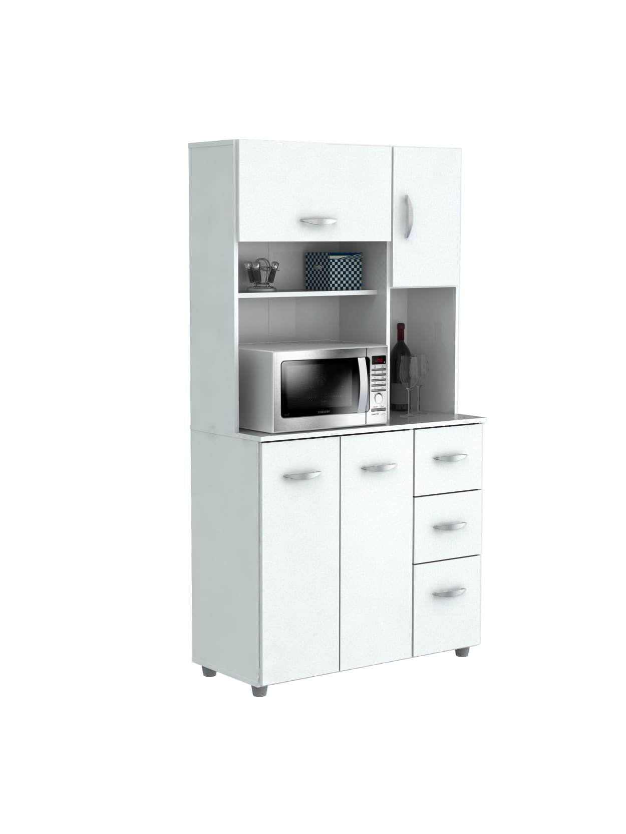 Inval Storage Cabinet With Microwave
