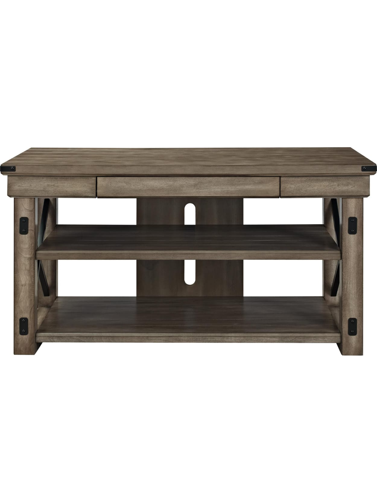 Ameriwood Home Wildwood Tv Stand For Flat Screen Tvs Up To 50 Blackbrown Office Depot