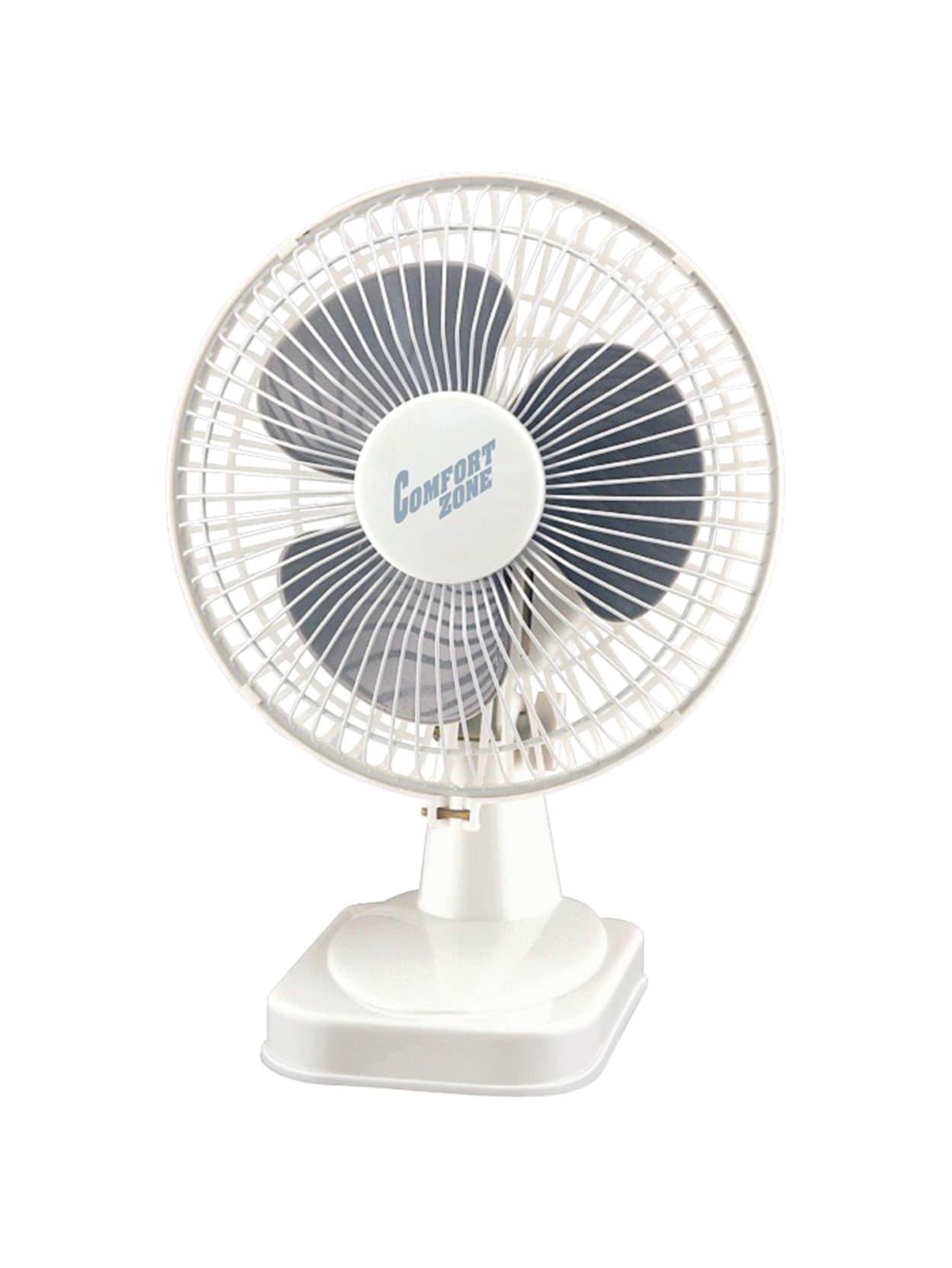 2 Speed CCC Comfort Zone Desk Fan CZ6D Whisper Quiet 6
