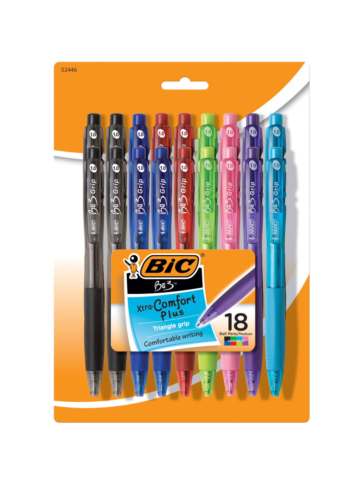 BIC BU3 Retractable Ball Pen Fashion 18 Pk WX7ST272-AST