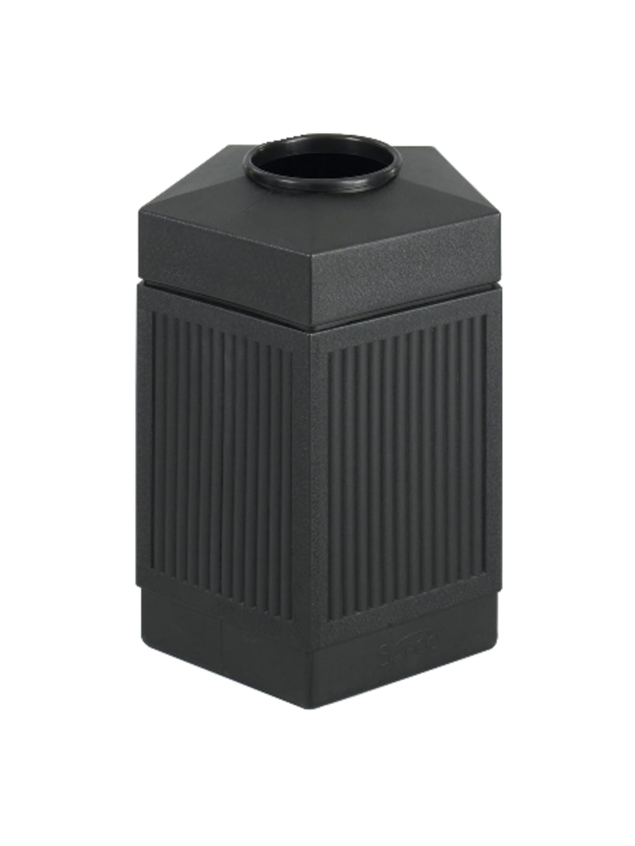Safco Canmeleon Plastic Indooroutdoor Trash Receptacle 45 Gallons 31 12 H X 24 W X 23 D Black Office Depot