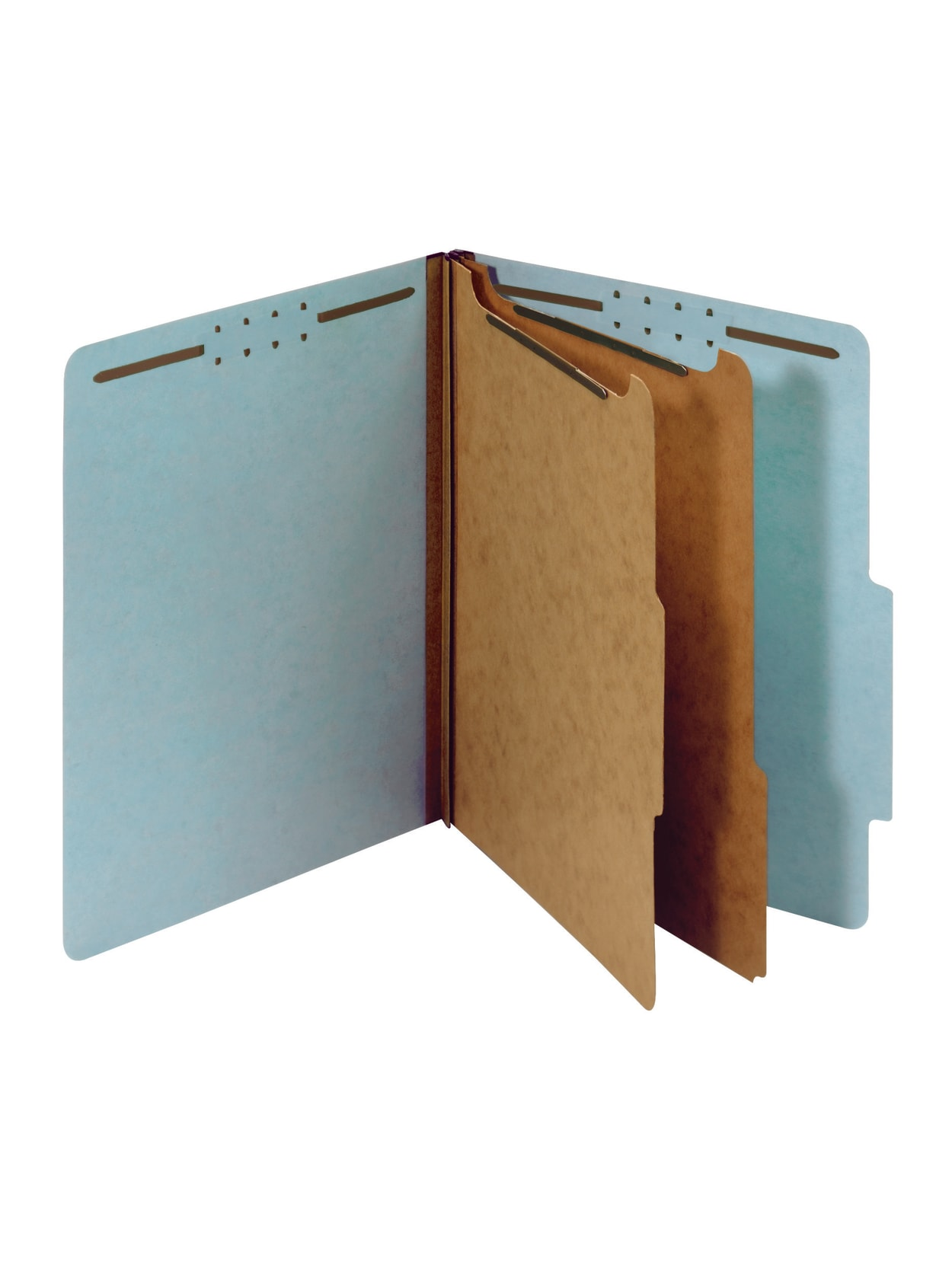 """Office Depot® Pressboard Classification Folders With Fasteners, Letter Size  (40-40/40"""" x 4040""""), 40-40/40"""" Expansion, 4000% Recycled, Blue, Box Of 400 Item #"""
