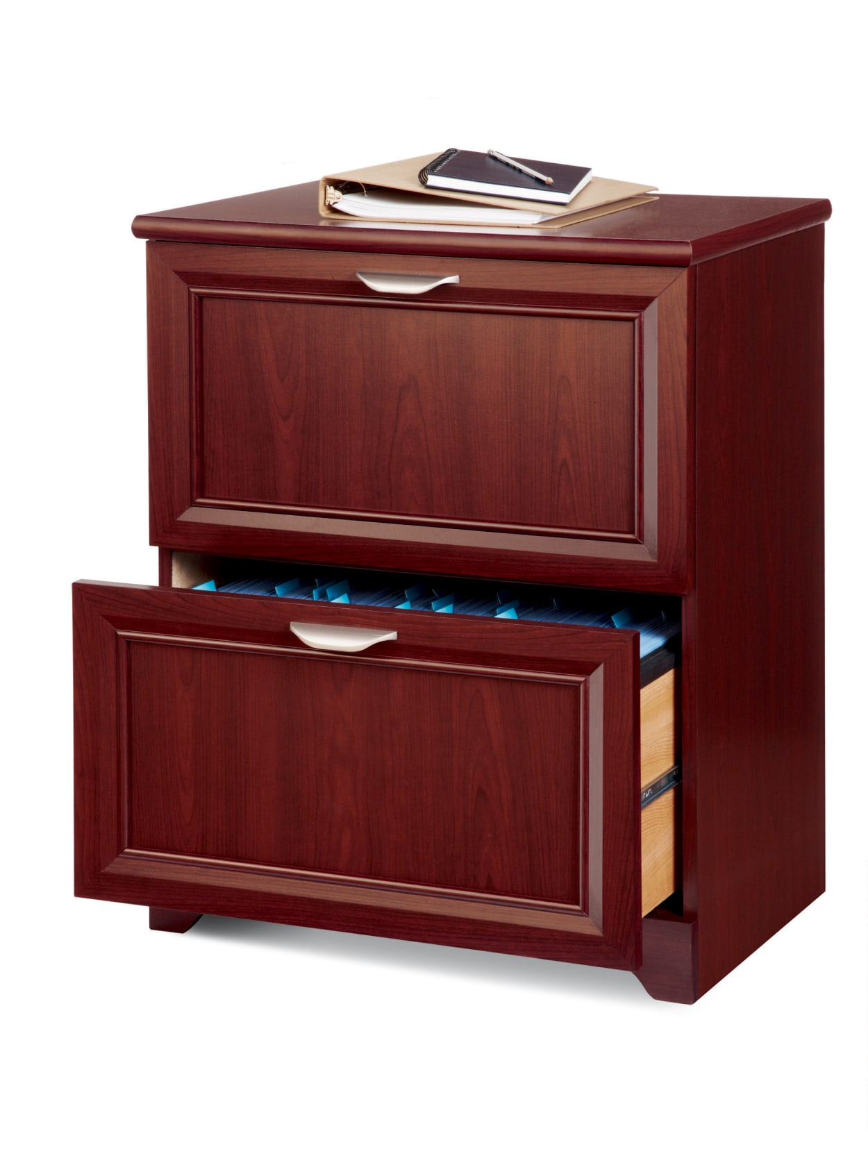 Picture of: Realspace Magellan 2 Drawer Cabinet Cherry Office Depot