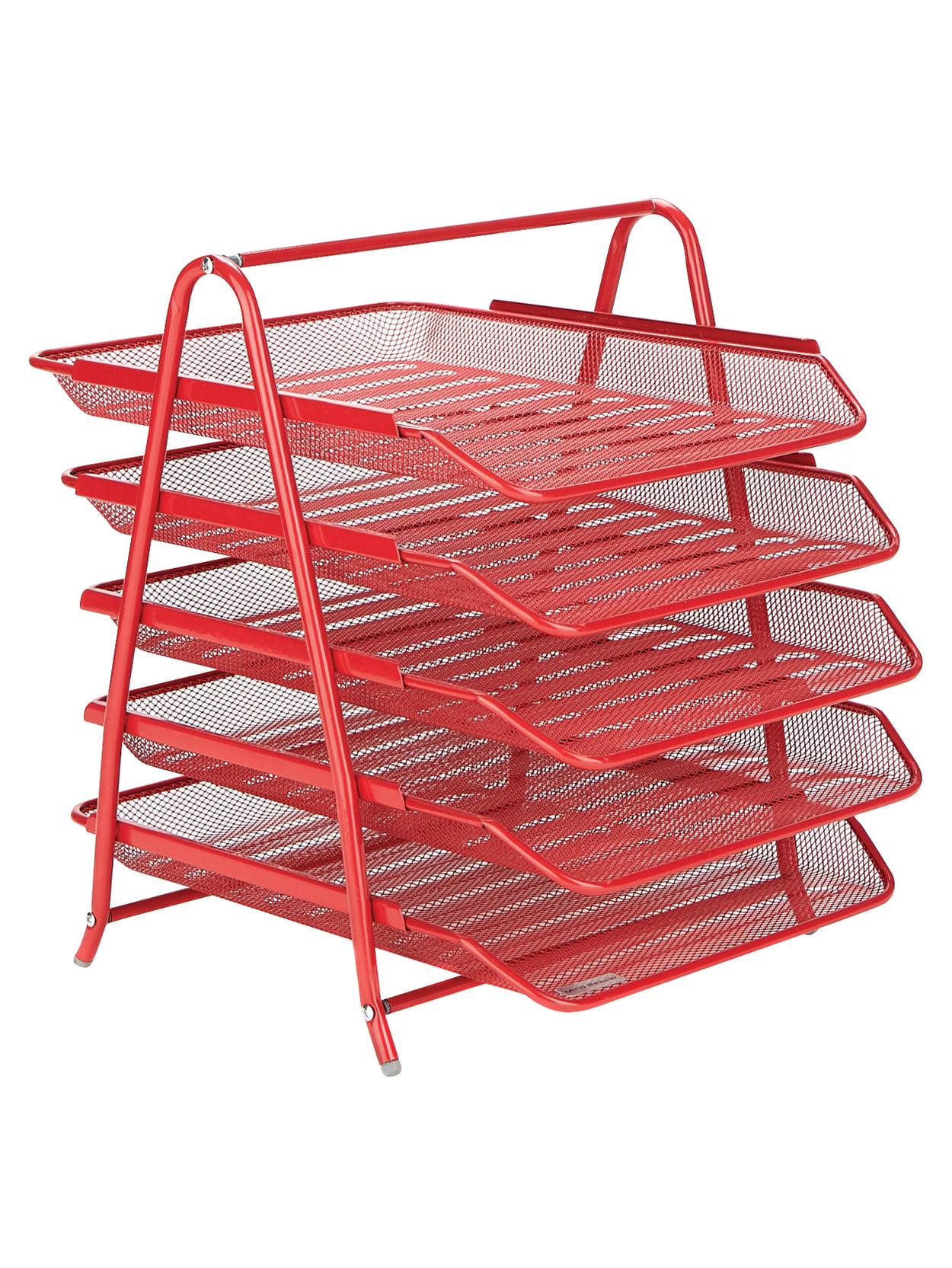 Red Desk File Sorter